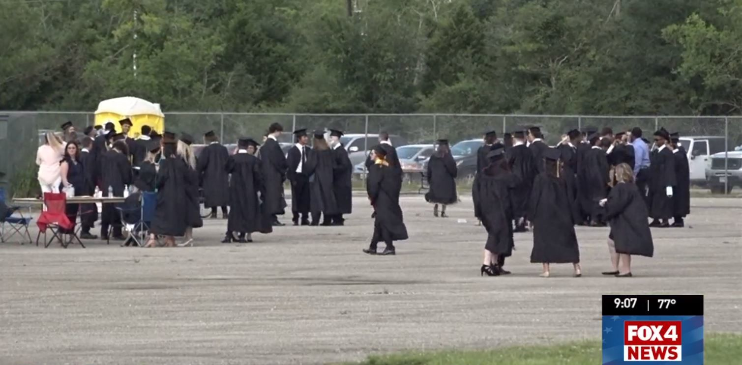 Nederland H.S. holds non-traditional graduation at Ford Park amid Covid-19 pandemic