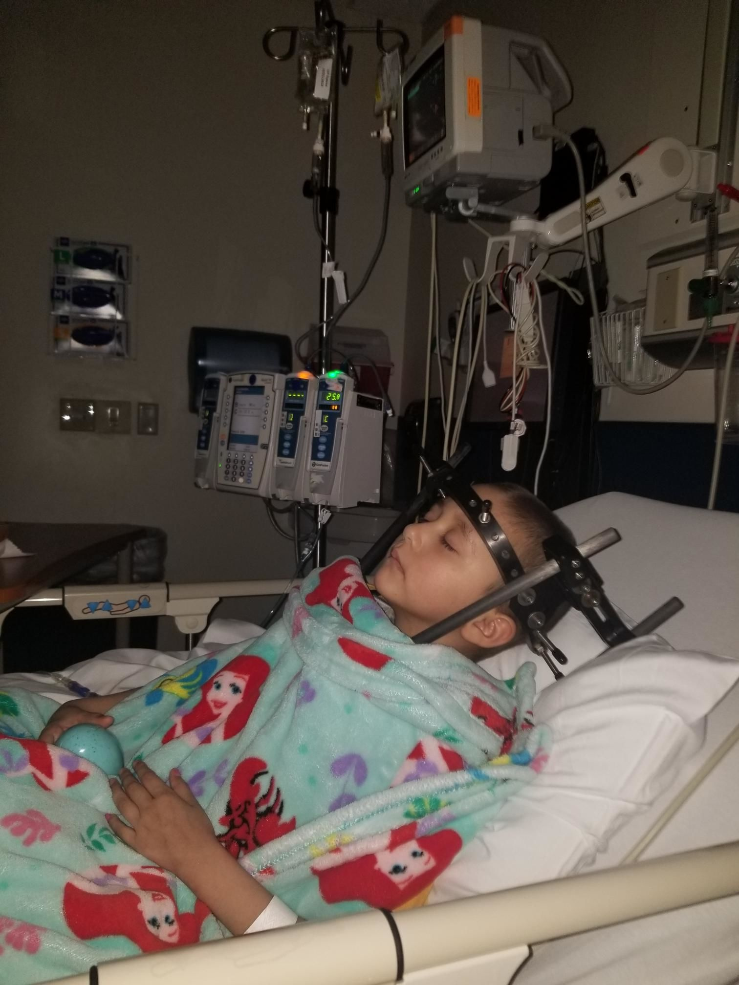 Alayna Rodriguez of Madera undergoing treatment at St. Jude Children's Research Hospital (Photo courtesy the Rodriguez family)