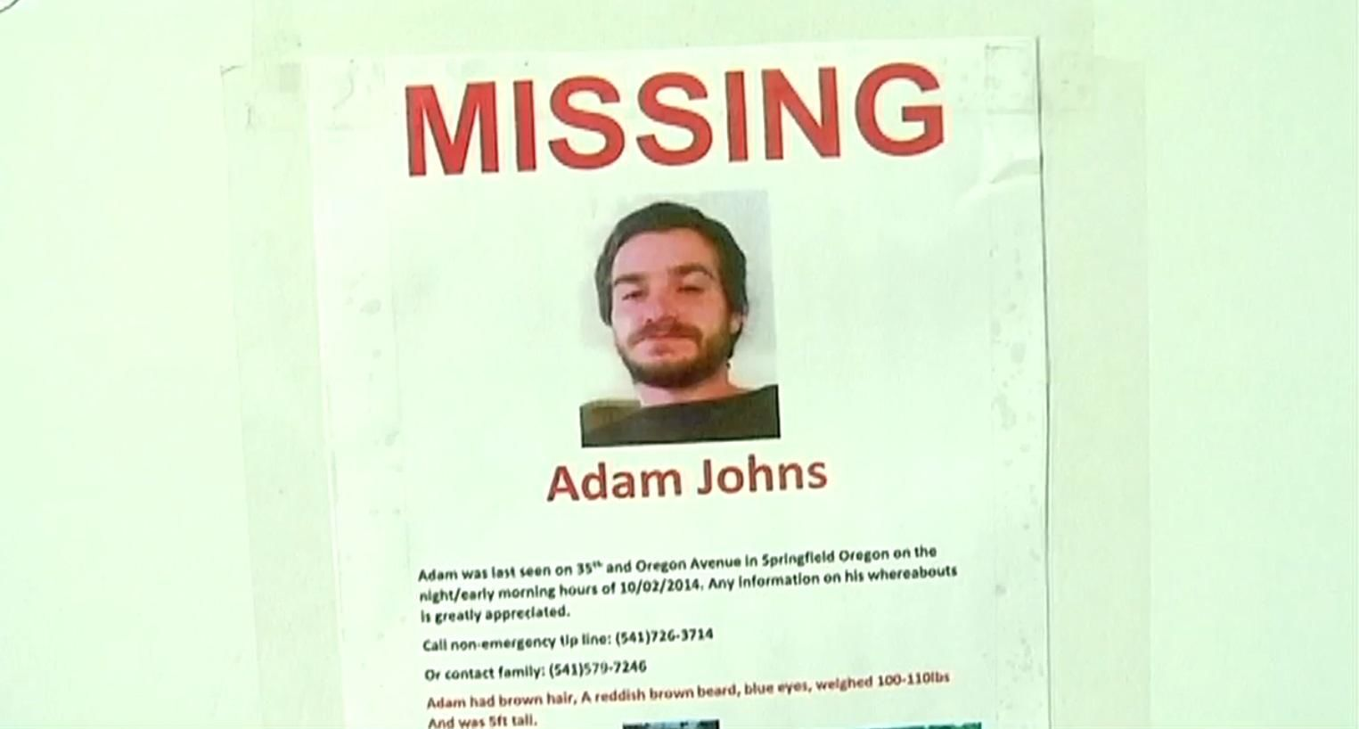Adam Johns remains missing after he disappeared 5 years ago. (SBG)