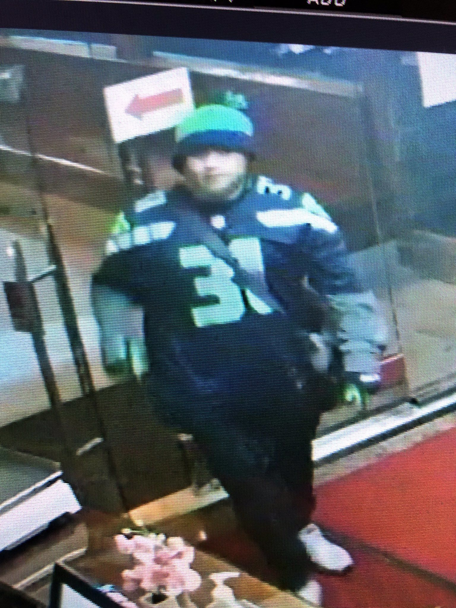 Man decked in Seahawks garb sought in armed robbery (Photo via Tukwila Police)