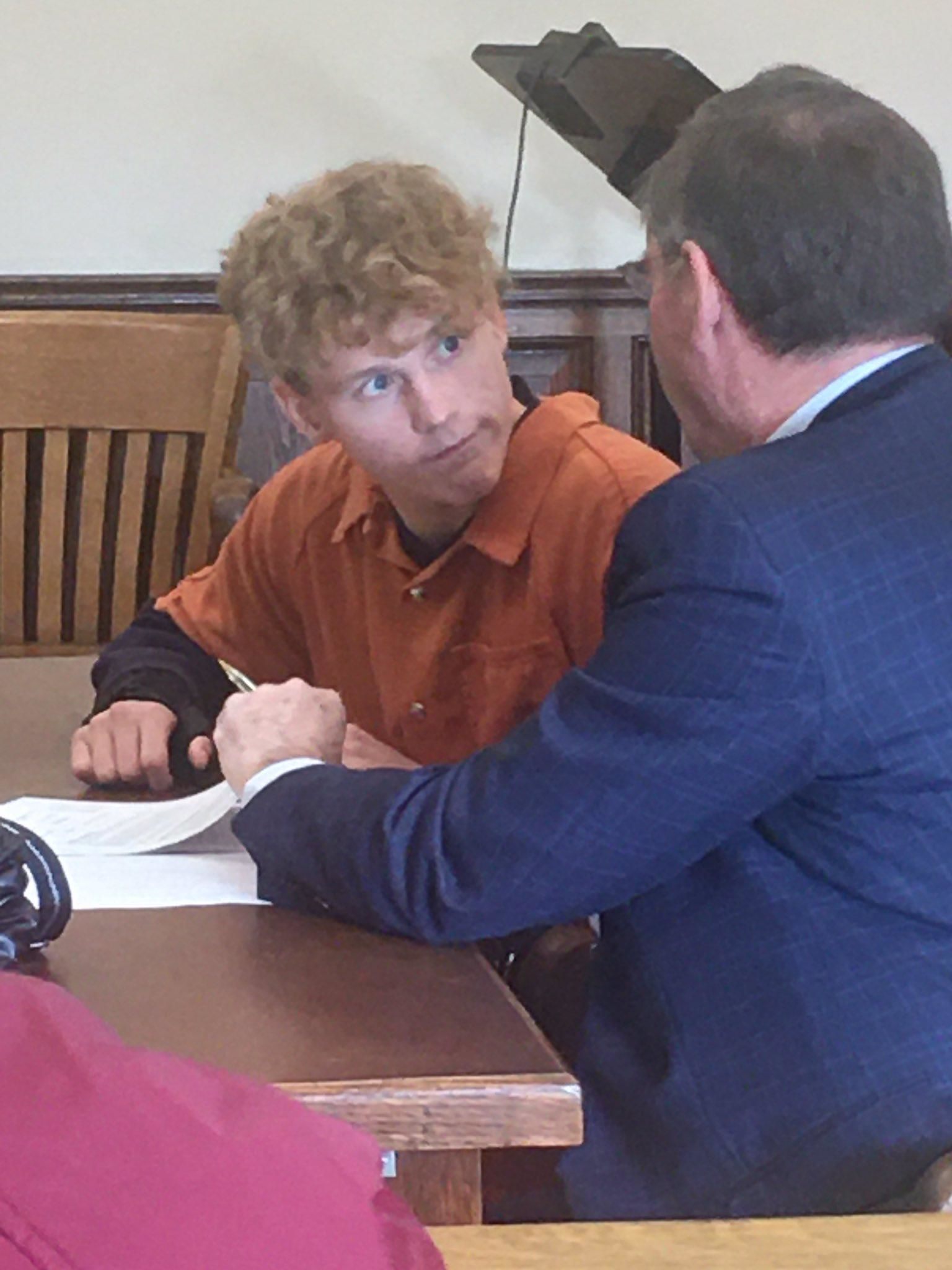 Jordan Buckley{ } pleading not guilty to charges relating to the death of Victoria Schafer in the Hocking Hills this past summer on Nov. 15, 2019. (WSYX/WTTE)