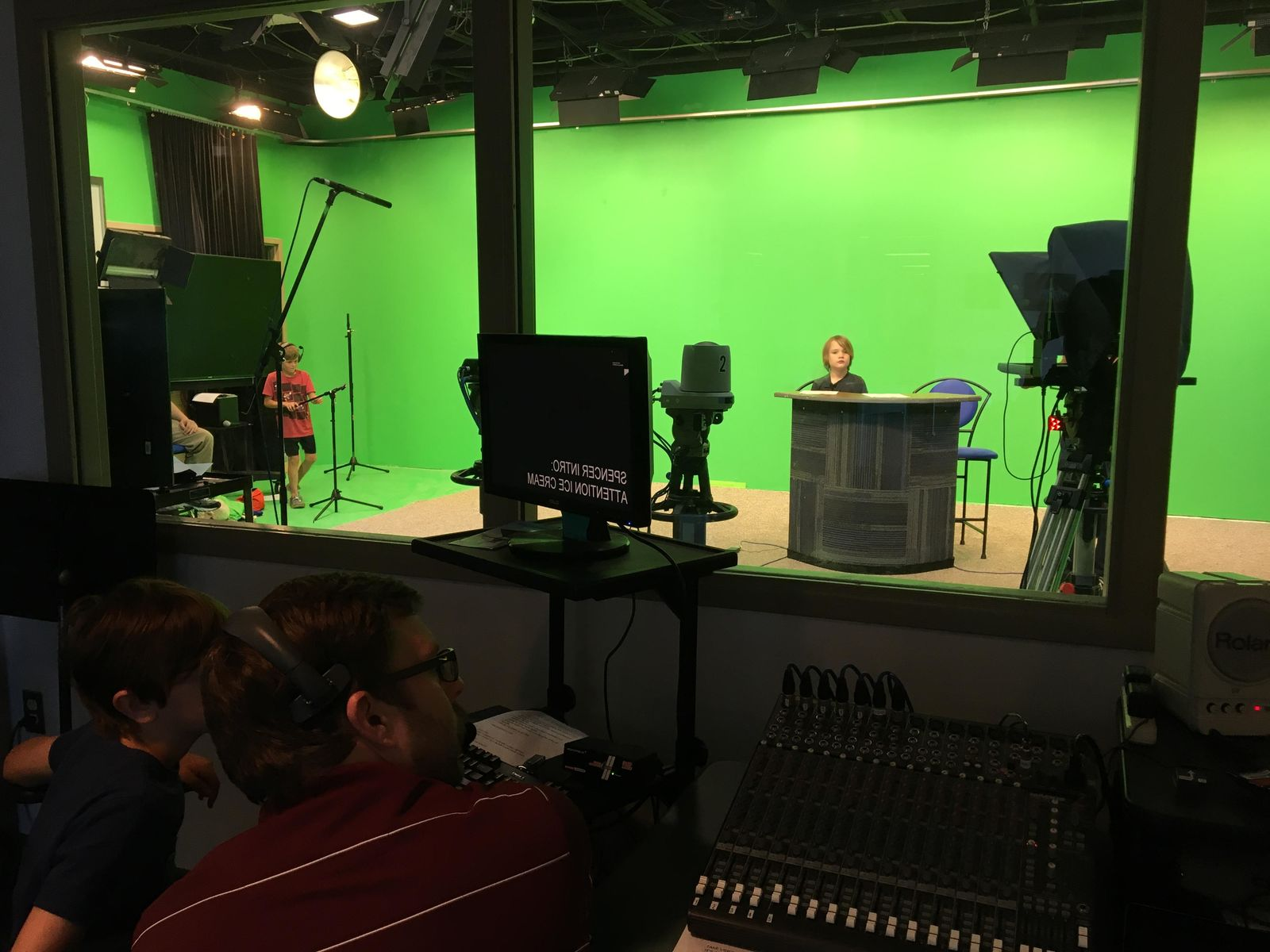 About a dozen students from Public Media Network's summer youth program learned television journalism skills from Newschannel 3's morning anchor/reporter Erica Mokay, weekend meteorologist/reporter Will Haenni, and evening anchor/reporter Lora Painter. (WWMT/Lora Painter)