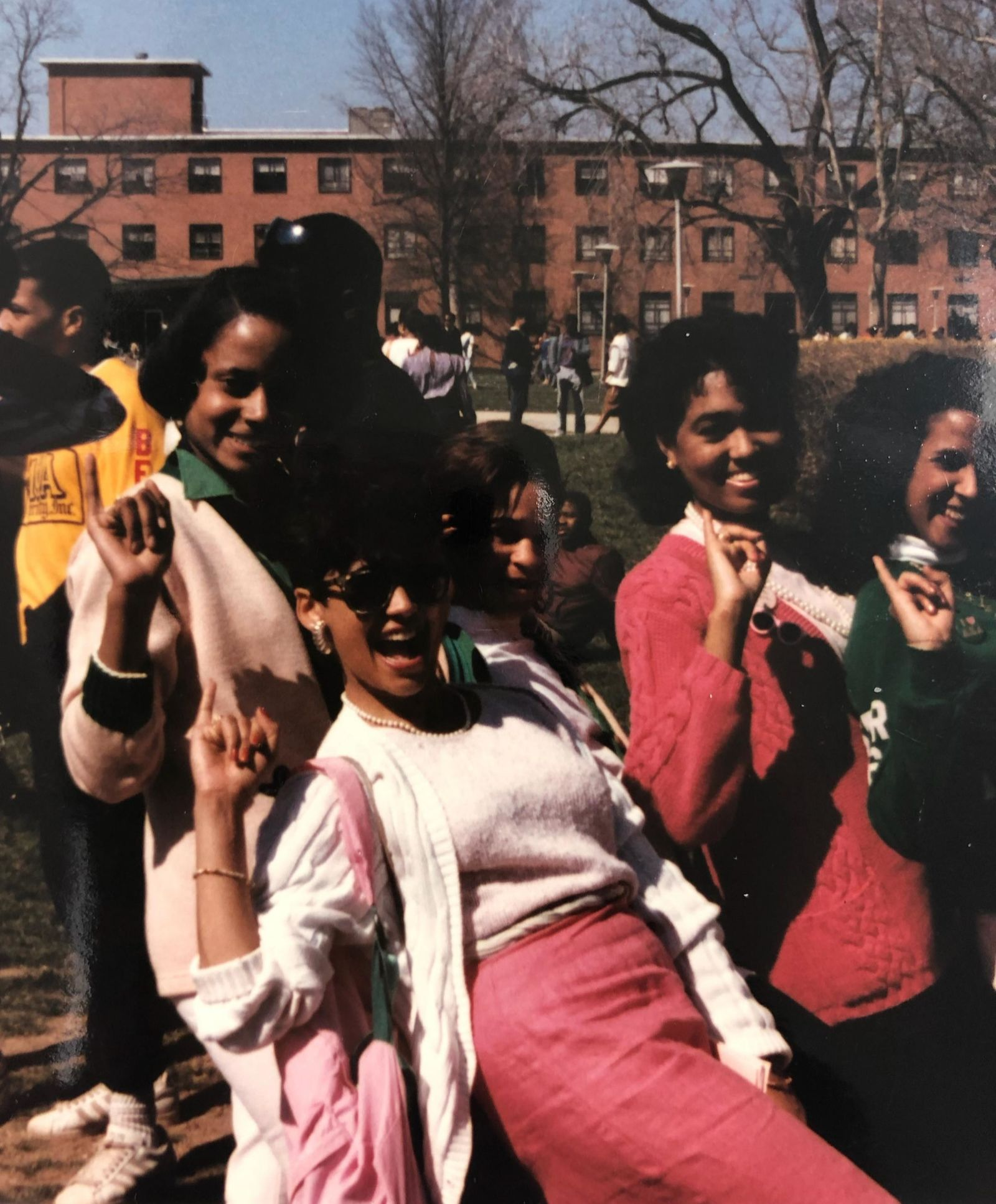 In 1986, Kamala Harris and 37 other women were initiated into Alpha Kappa Alpha at Howard University.  ABC7 spoke to her line sisters about Harris's history-making moment on Wednesday. Courtesy: Alpha Kappa Alpha{ }{ }