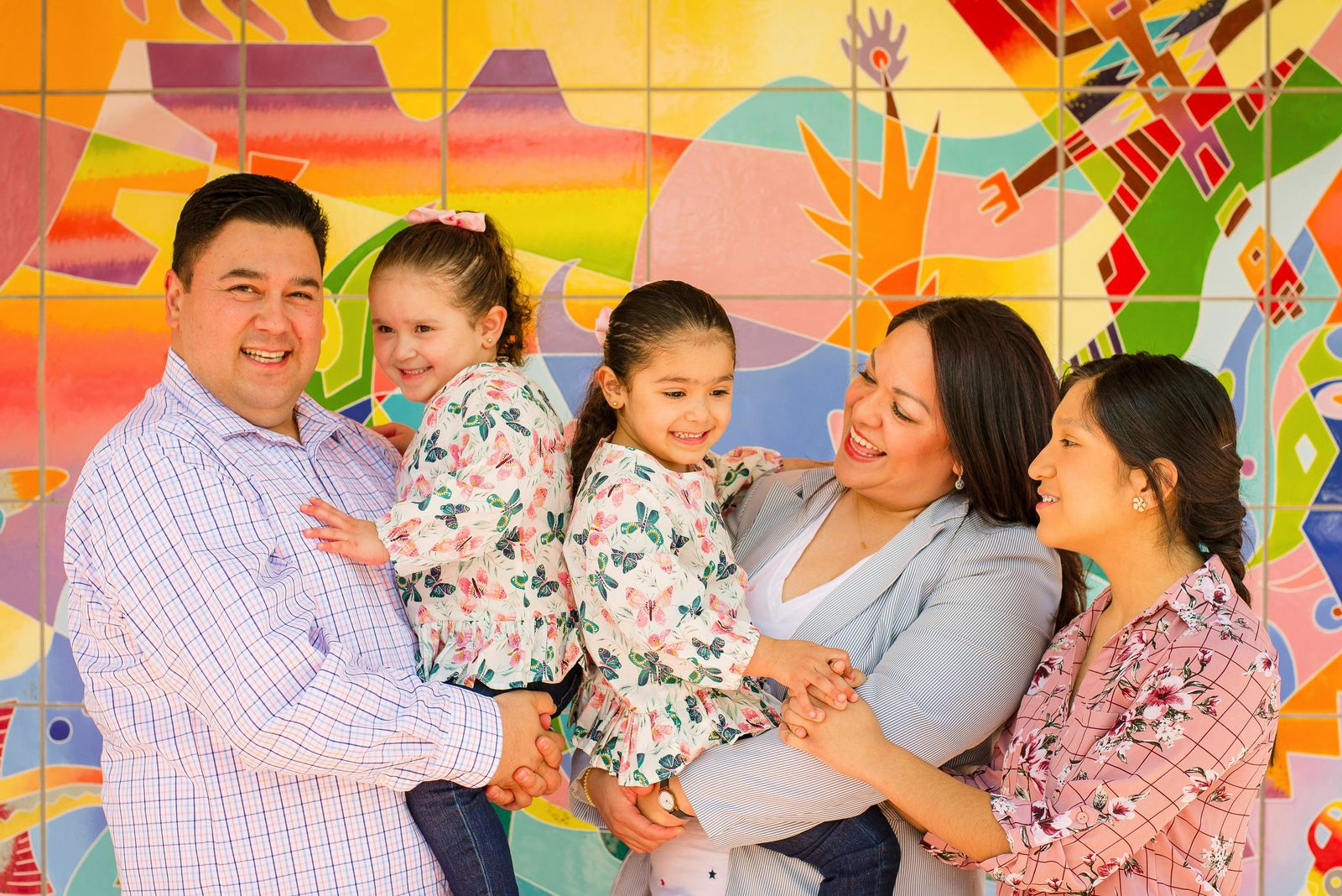This undated photo provided by the Luz Escamilla Campaign shows Utah lawmaker and Salt Lake City former mayoral candidate Luz Escamilla with her husband Juan Carlos and three of her children, Aileen, Sol and Cielo, in Salt Lake City. She was among the first candidates to use a new Utah law that allows campaign money to be used for childcare. A small but growing number of states are passing similar measures, something that advocates say will allow more women to run for office amid a historic rise in the number of female candidates around the country. (Brandon Cruz/Luz Escamilla Campaign via AP)