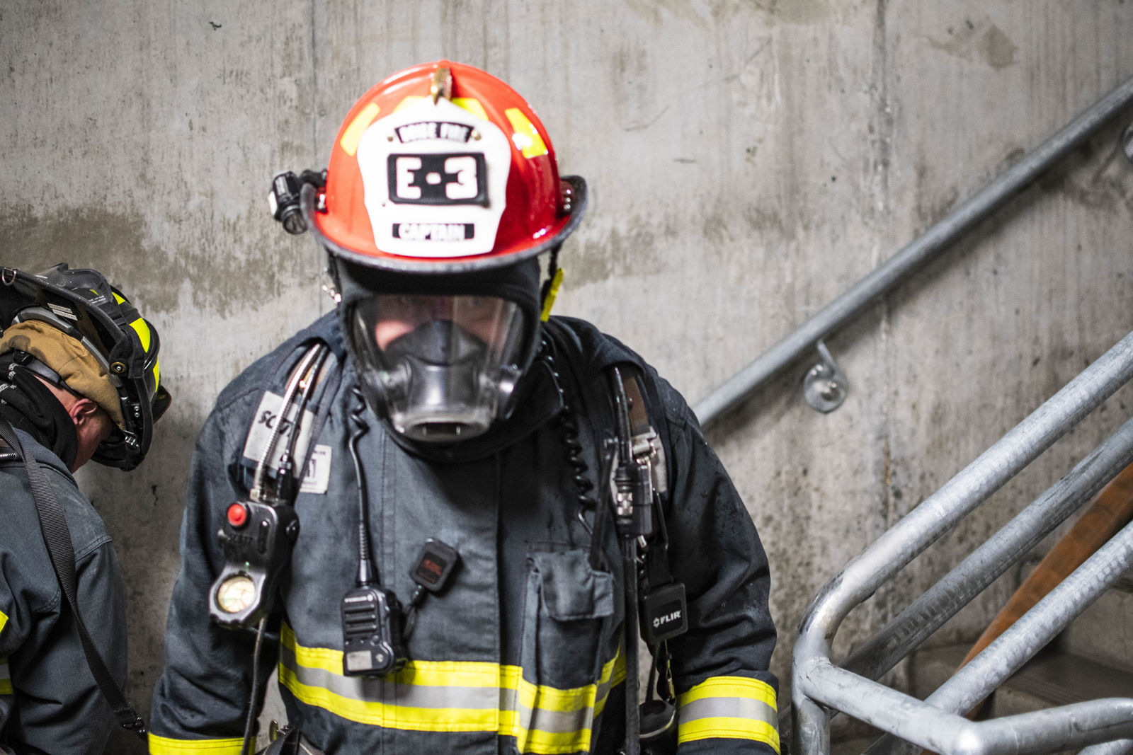 Boise Fire Department on Wednesday held its yearly high rise fire training. The department used its new high rise training facility which features propane props to create real life scenarios. (Photos by Axel Quartarone)