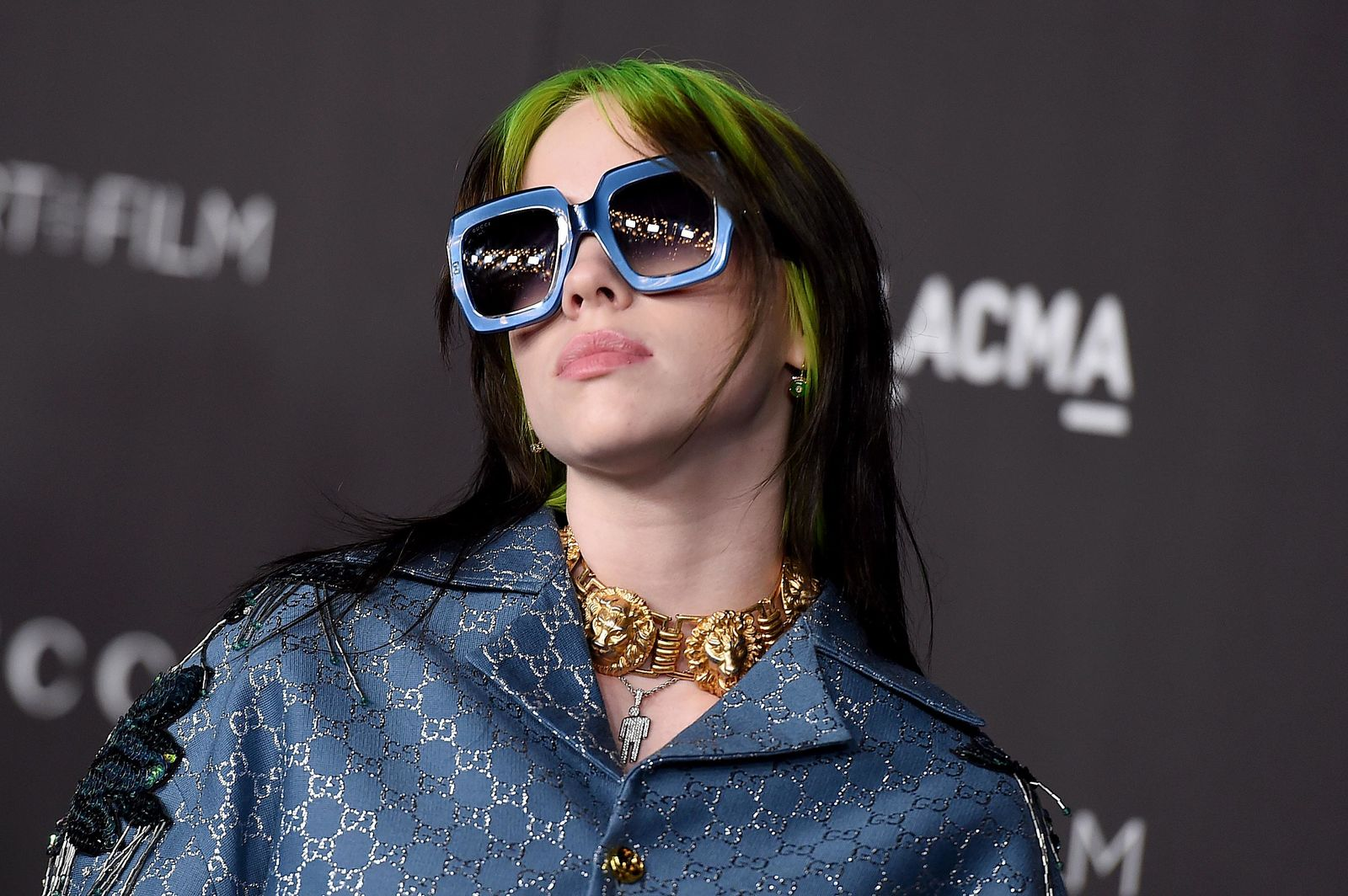 FILE - This Nov. 2, 2019 file photo shows Billie Eilish at the 2019 LACMA Art and Film Gala in Los Angeles. (Photo by Jordan Strauss/Invision/AP, File)
