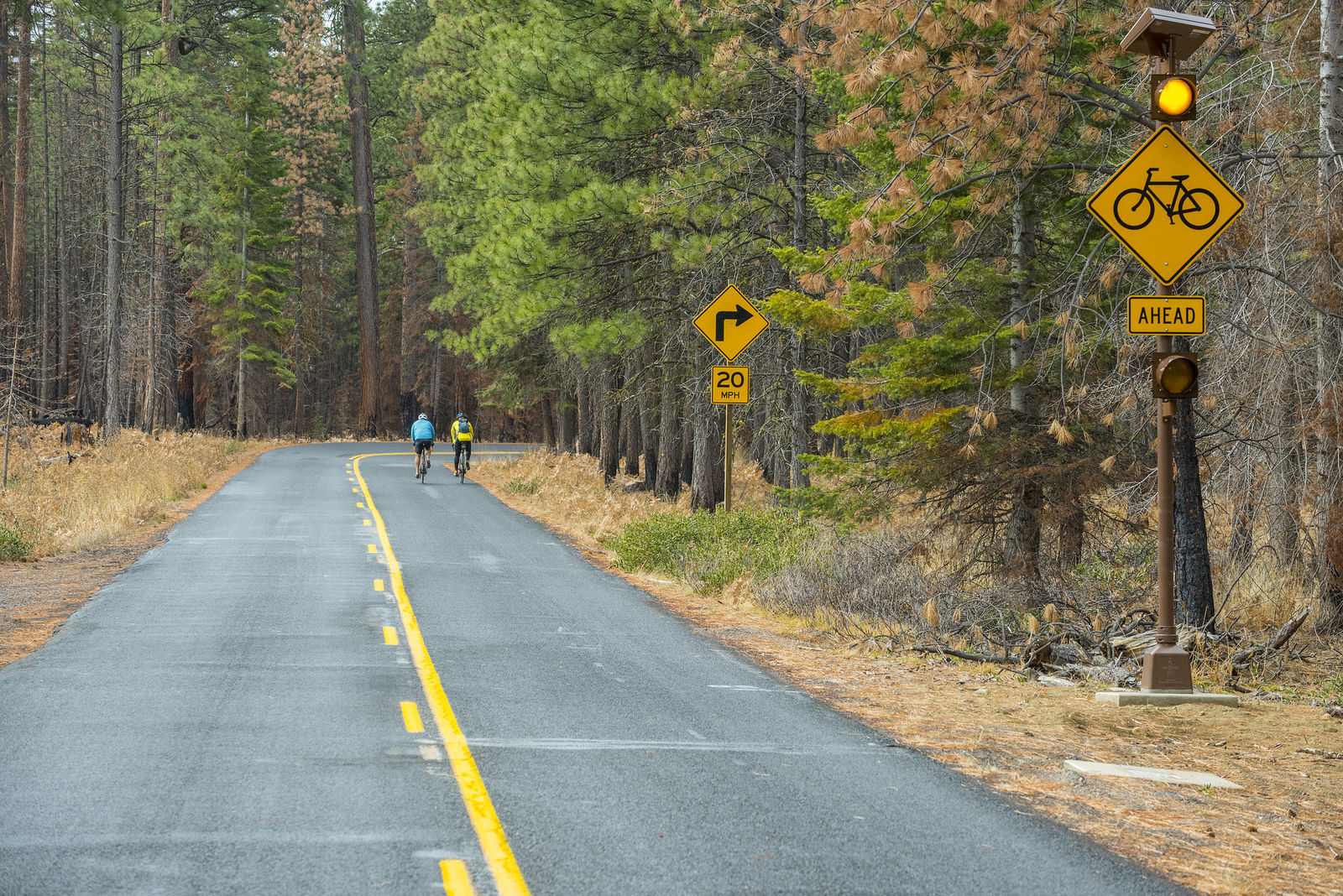 The route is sometimes clear for bicyclists to use at their own risk before the road reopens to motor vehicles in June.{ }{ }(Greg Westergaard, ODOT CC by 2.0)
