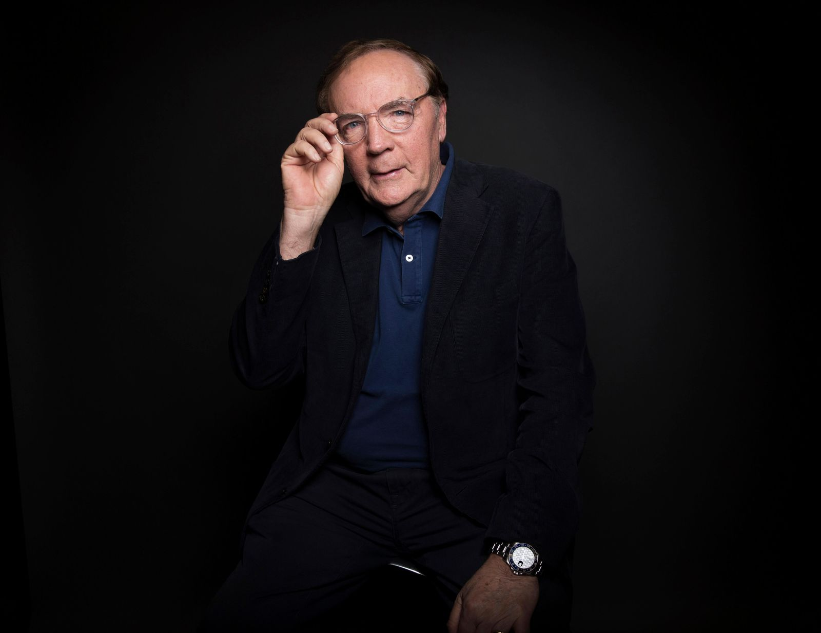FILE - In this Aug. 30, 2016, file photo, author James Patterson poses for a portrait in New York. Oscar-winning actor Jon Voight, singer and musician Alison Krauss and mystery writer Patterson are among those being honored by President Donald Trump for their contributions to the arts or the humanities.(Photo by Taylor Jewell/Invision/AP, File)