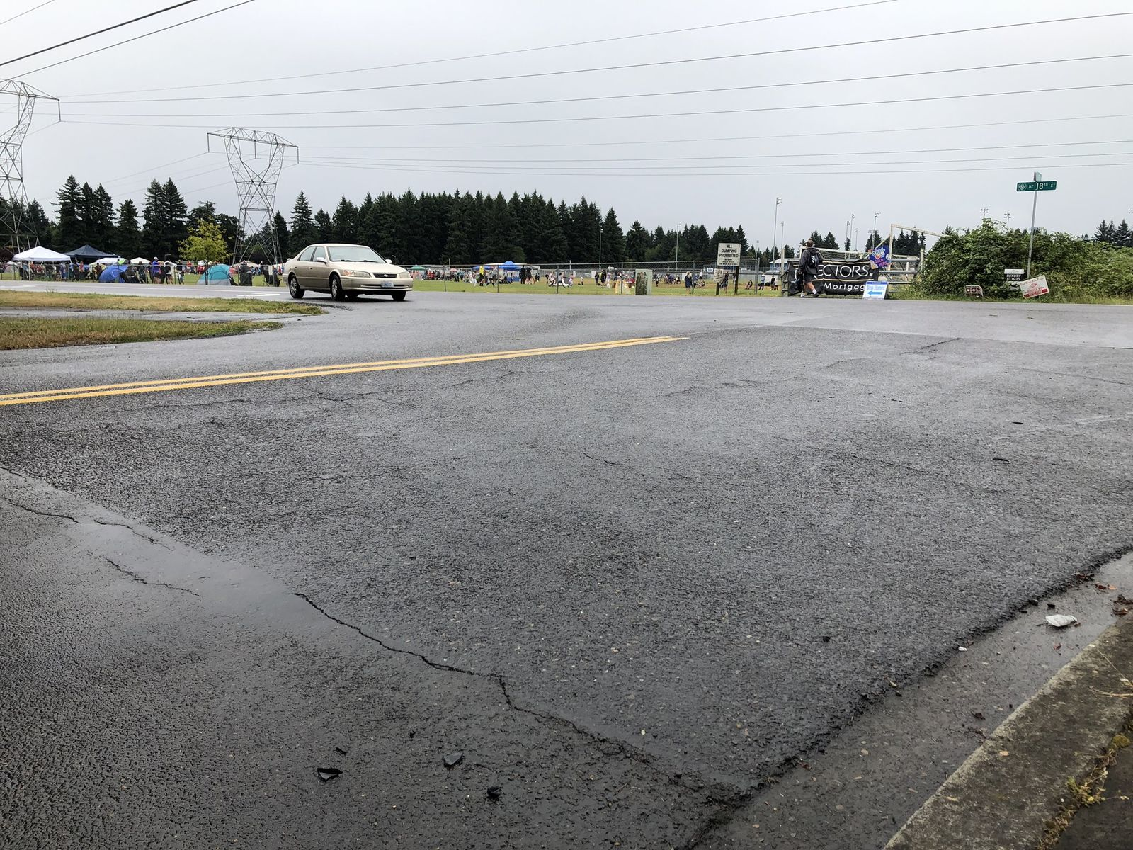 The scene of Friday night's double fatal collision in Vancouver. Photo by Ric Peavyhouse, KATU News