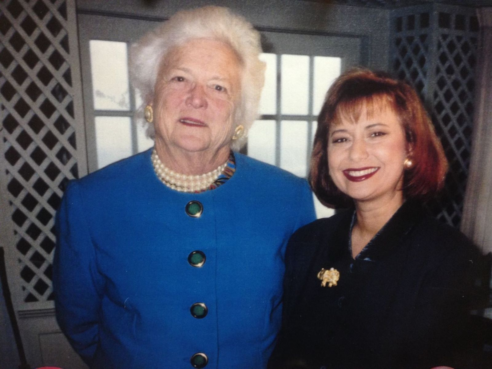 Barbara Bush and Kim Block (WGME)