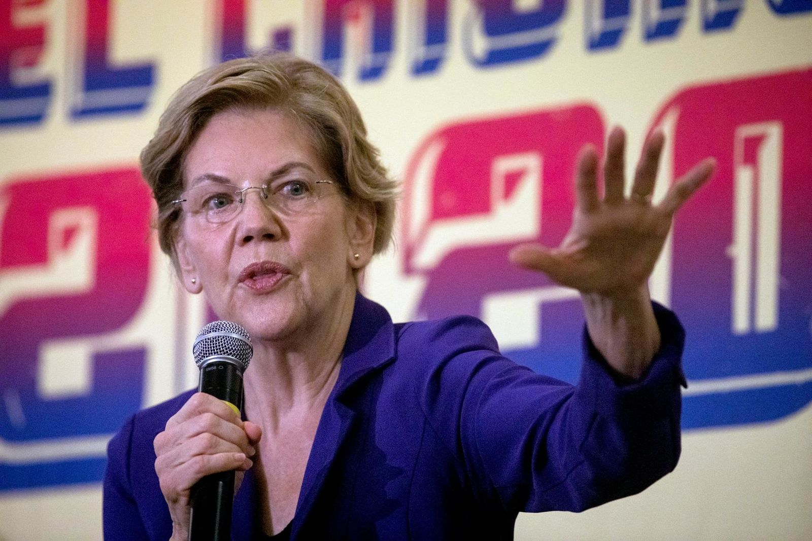 Democratic presidential candidate and Sen. Elizabeth Warren, D-Mass., speaks at Mijente's El Chisme 2020 election event in Raleigh, N.C. Friday, Nov 8, 2019. (Bryan Cereijo/The News & Observer via AP)
