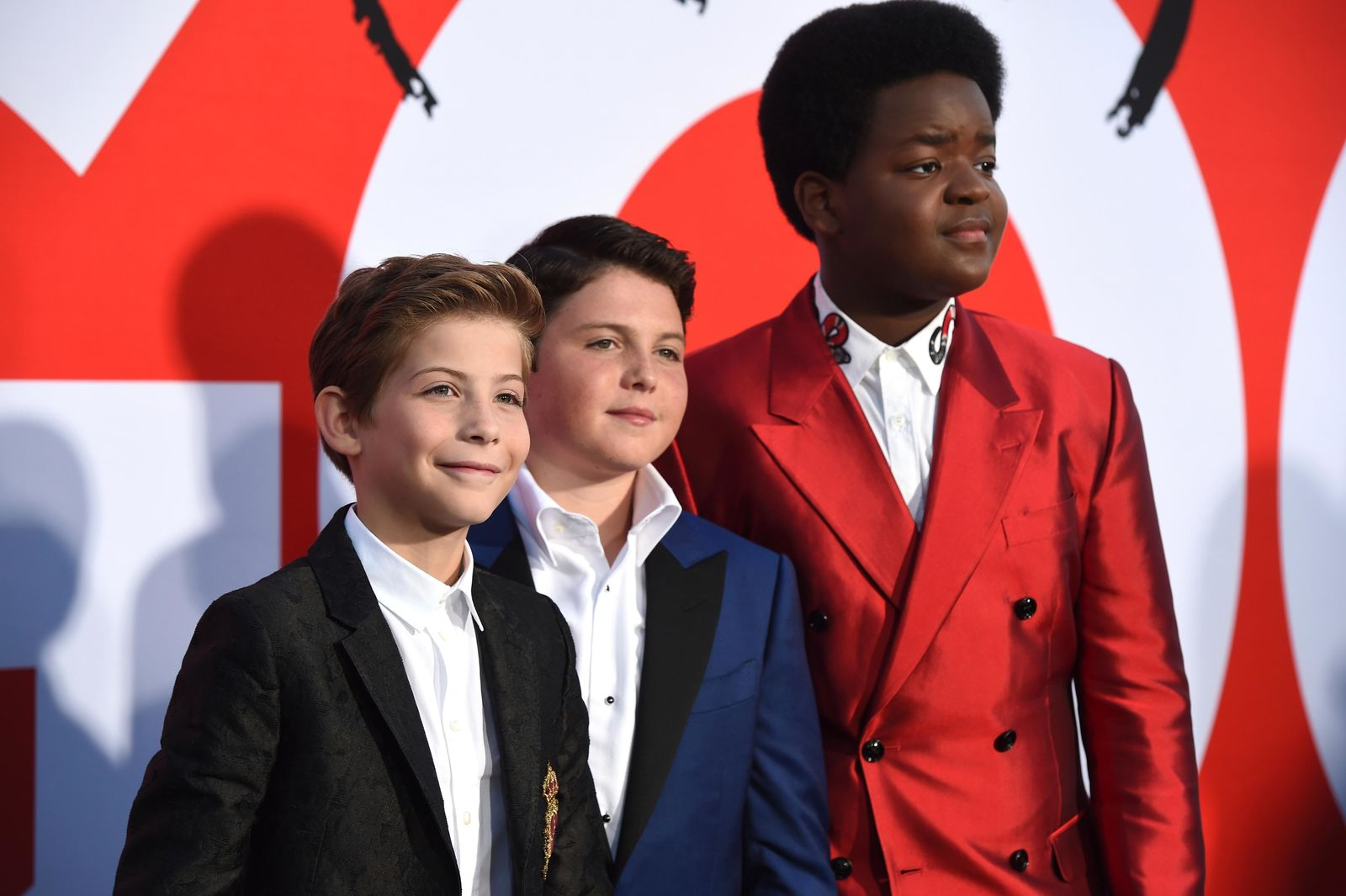 "Jacob Tremblay, from left, Brady Noon and Keith L. Williams arrive at the premiere of ""Good Boys"" on Wednesday, Aug. 14, 2019, at the Regency Village Theatre in Los Angeles. (Photo by Chris Pizzello/Invision/AP)"