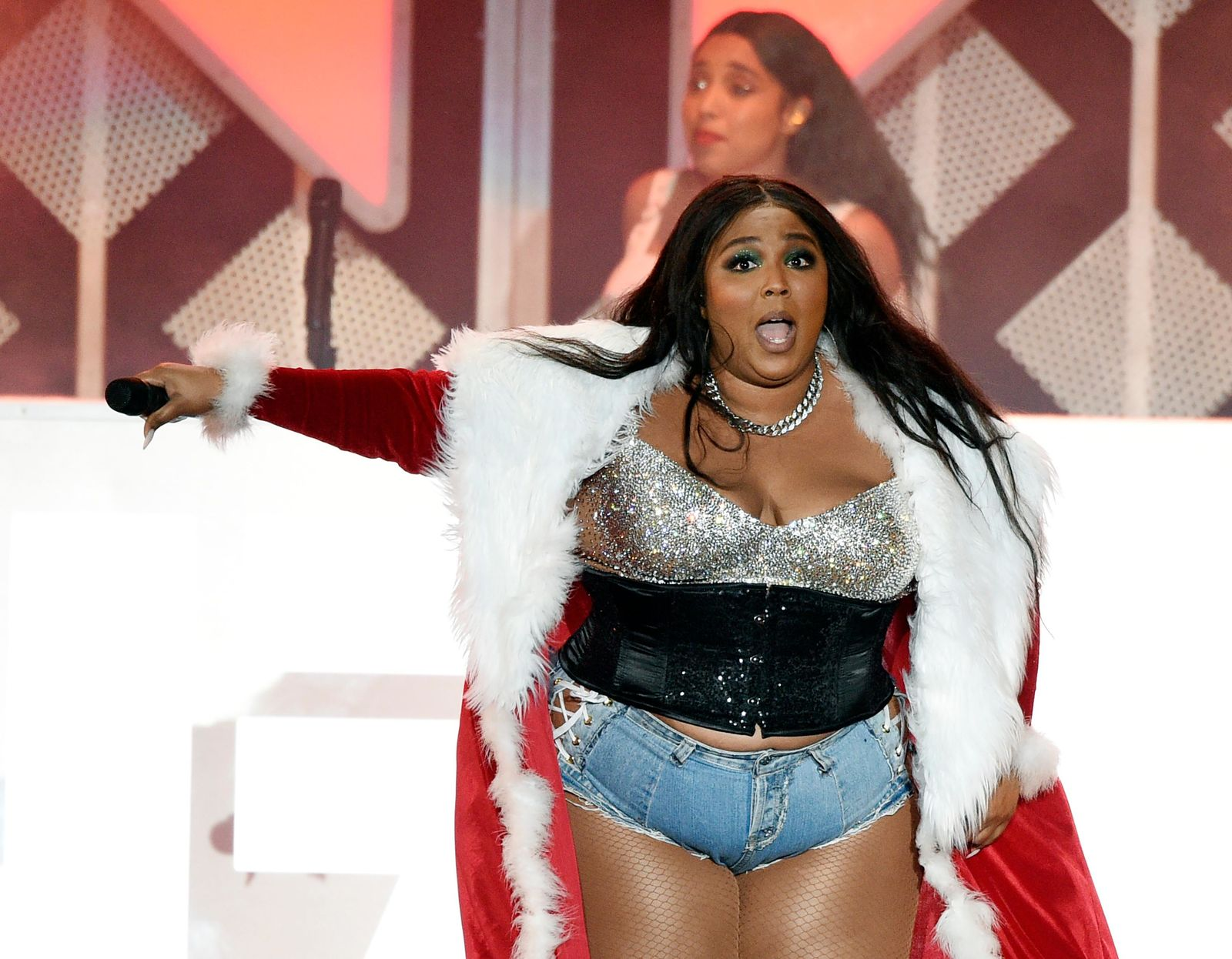 Lizzo performs during the 2019 KIIS-FM Jingle Ball concert at The Forum, Friday, Dec. 6, 2019, in Inglewood, Calif. (AP Photo/Chris Pizzello)