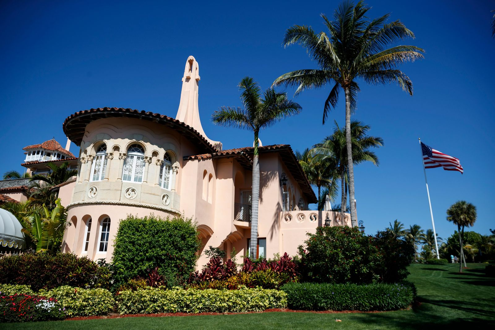A view of Mar-A Lago on Friday, March 22, 2019, in Palm Beach, Fla., before Caribbean leaders talk to media after meeting with President Donald Trump. (AP Photo/Carolyn Kaster)