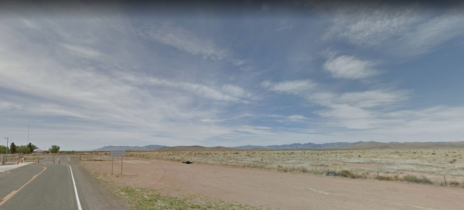 This photo shows the expansive desert area surrounding the Antelope Wells port of entry. (Credit: Google Maps)