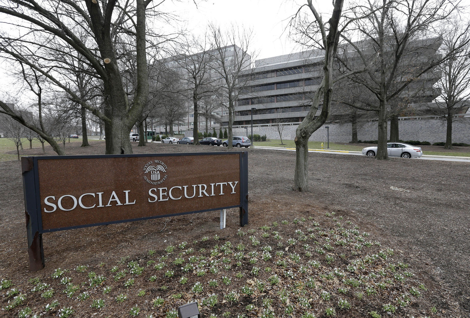 FILE - In this file photo, the Social Security Administration's main campus is seen in Woodlawn, Md. (AP Photo/Patrick Semansky, File)
