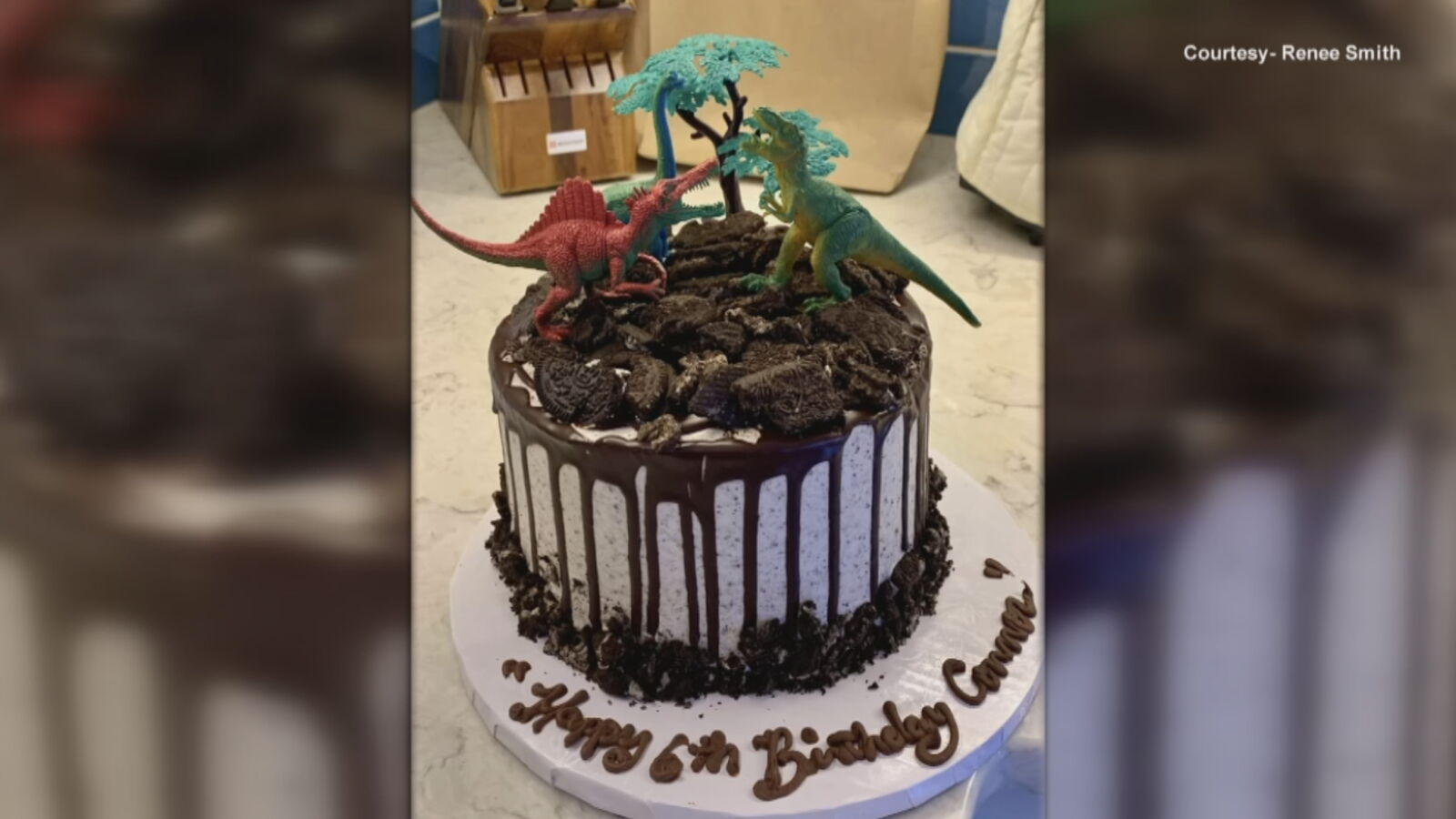 An anonymous woman paid for birthday cakes for kids at a pastry shop in memory of her son. (Courtesy of Renee Smith via WJAR)<p></p>