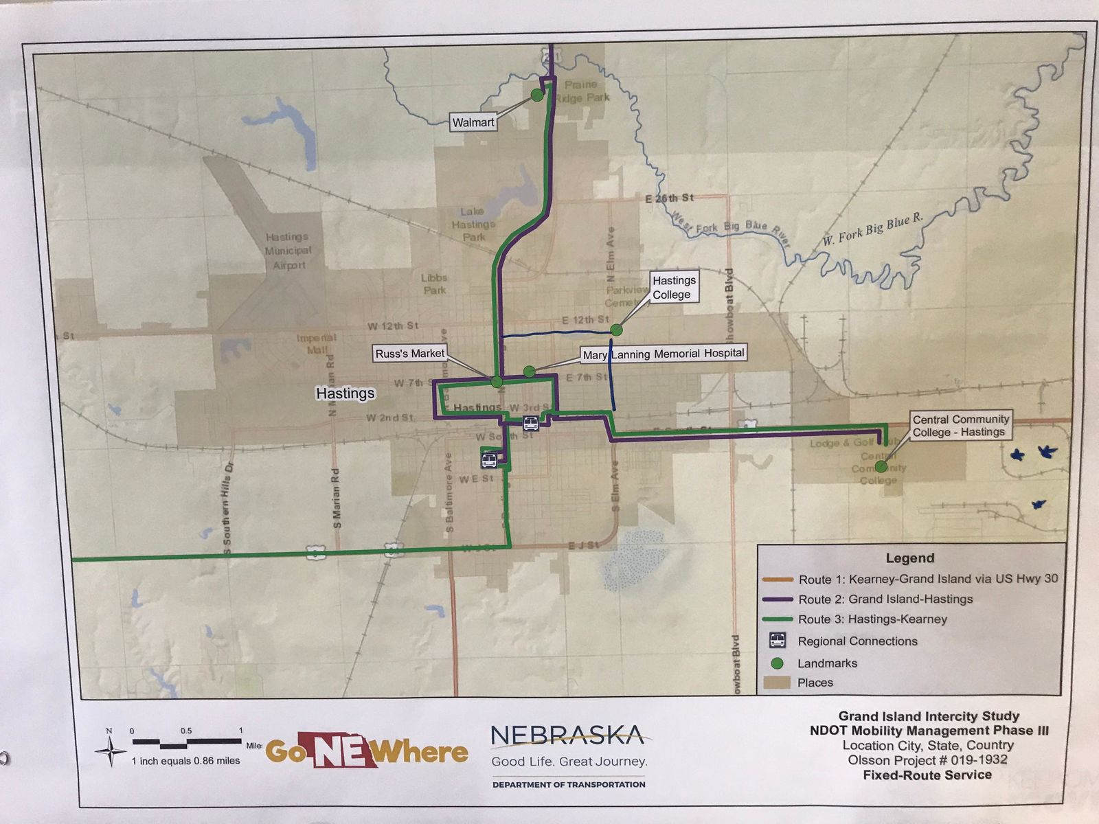 Route map of Grand Island{ }(NTV News)
