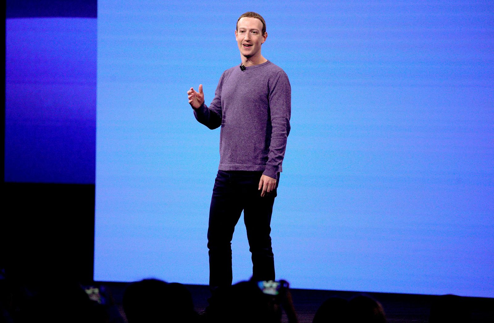 FILE - In this April 30, 2019, file photo, Facebook CEO Mark Zuckerberg makes the keynote speech at F8, Facebook's developer conference in San Jose, Calif.{ } (AP Photo/Tony Avelar, File)