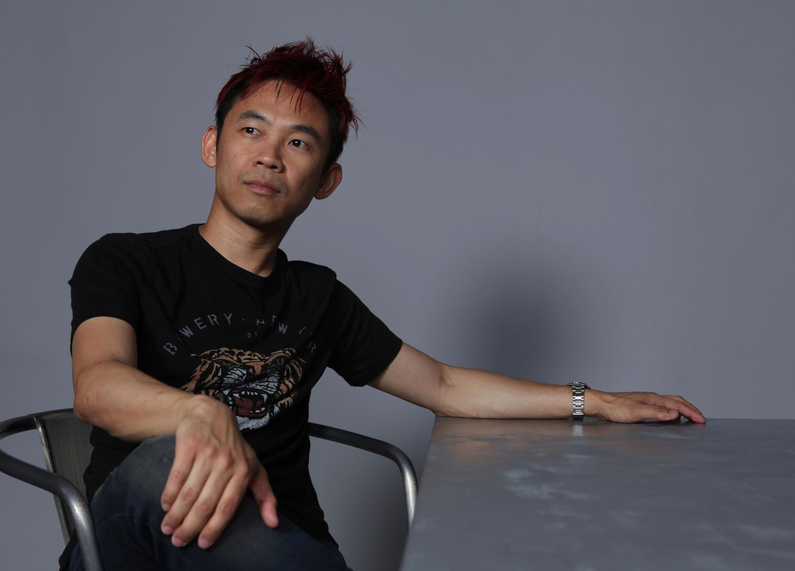 "Director James Wan poses for a portrait to promote the film ""Aquaman"" on day two of Comic-Con International on Friday, July 20, 2018, in San Diego. (Photo by Rebecca Cabage/Invision/AP)"
