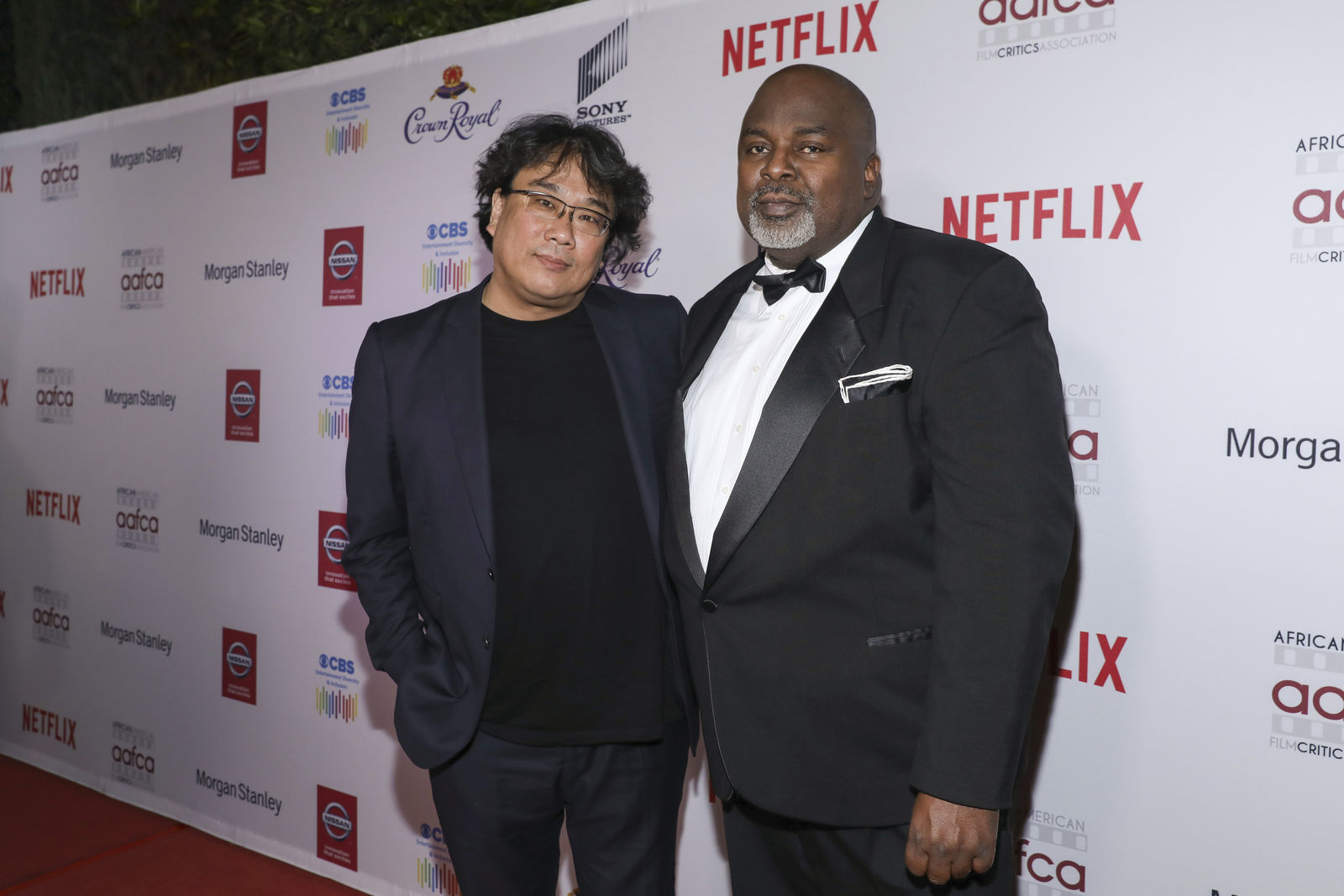 Bong Joon Ho and Gil Robertson attend the 11th Annual AAFCA Awards at the Taglyan Complex on Wednesday, Jan. 22, 2020, in Los Angeles. (Photo by Mark Von Holden /Invision/AP)