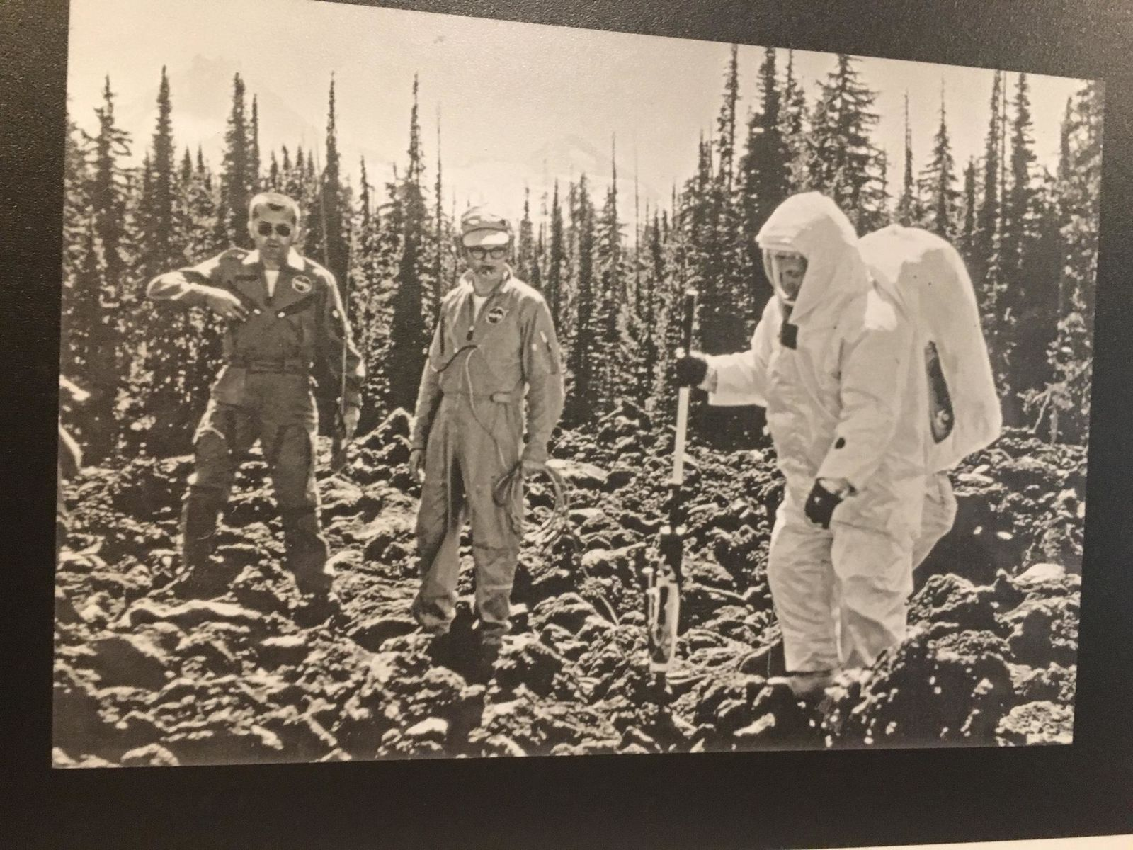 Fifty years ago this month, astronauts first set foot on the moon. Before blasting off for the lunar surface, they paid a visit to Central Oregon to test themselves and their equipment against the volcanic surface of the Cascade Mountains. (Moon Country exhibit at High Desert Museum)