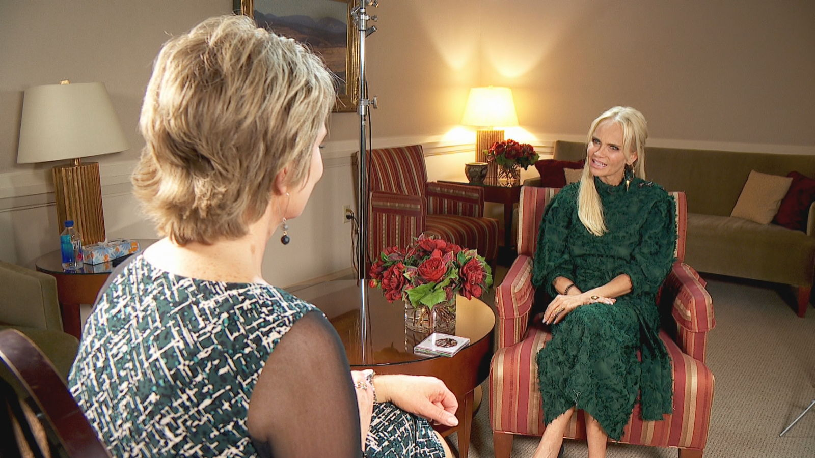 "Kristin Chenoweth's new album with Tabernacle Choir at Temple Square, ""Angels Among Us,"" was released today, and Chenoweth came back to Utah to talk about her experiences with the choir. (Photo: KUTV)"