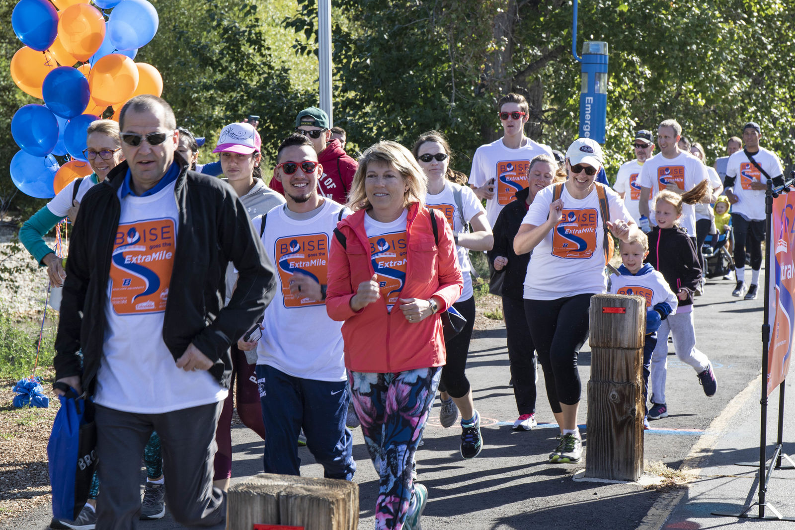 The celebration of the 50th anniversary of the Greenbelt continues with the first Extra Mile run and walk. Boise State President Marlene Tromp and Boise Mayor Bieter were in attendance as well. (Photos by Axel Quartarone){ }