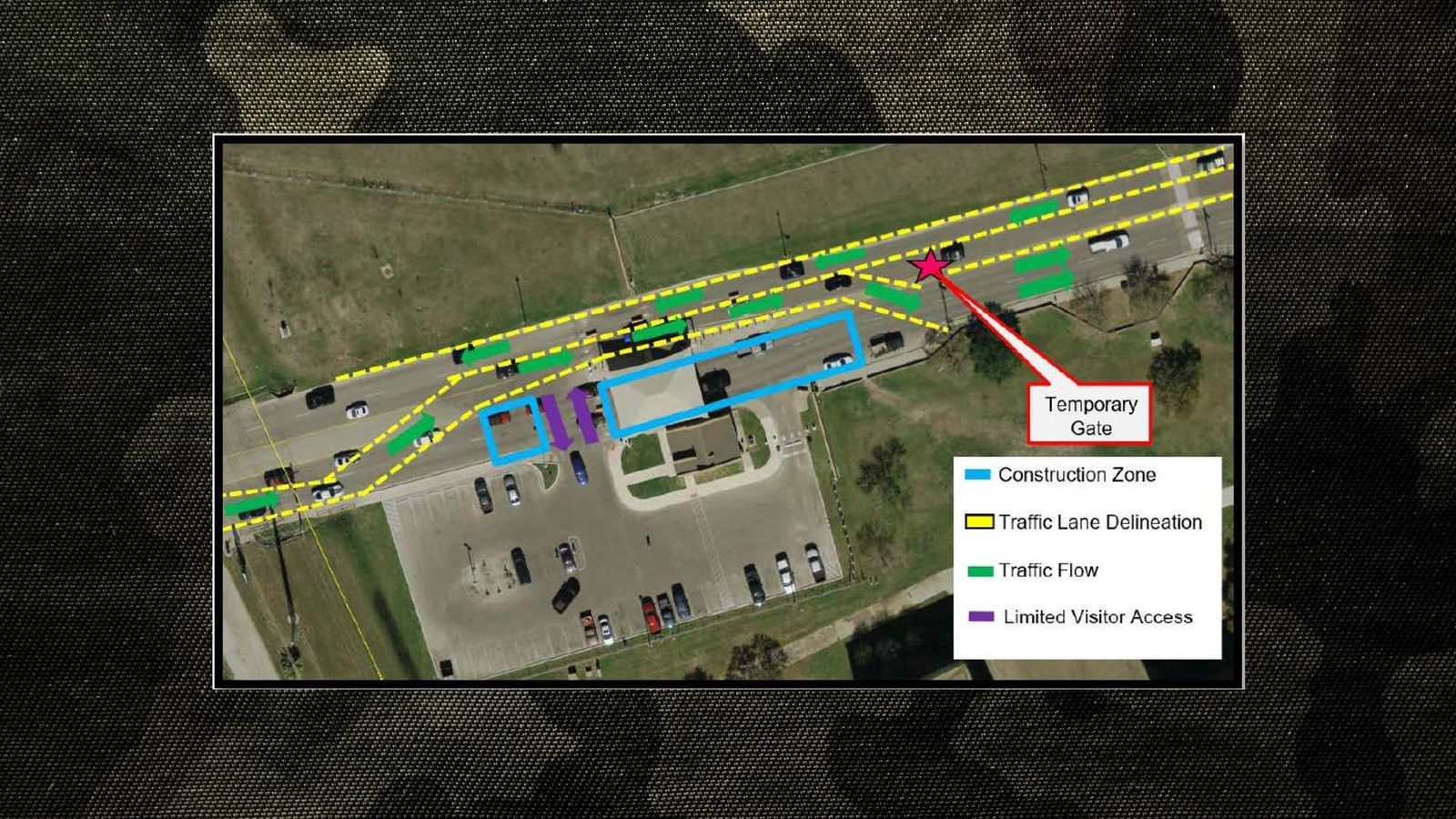 Construction map for JBSA Lackland (Submitted graphic)