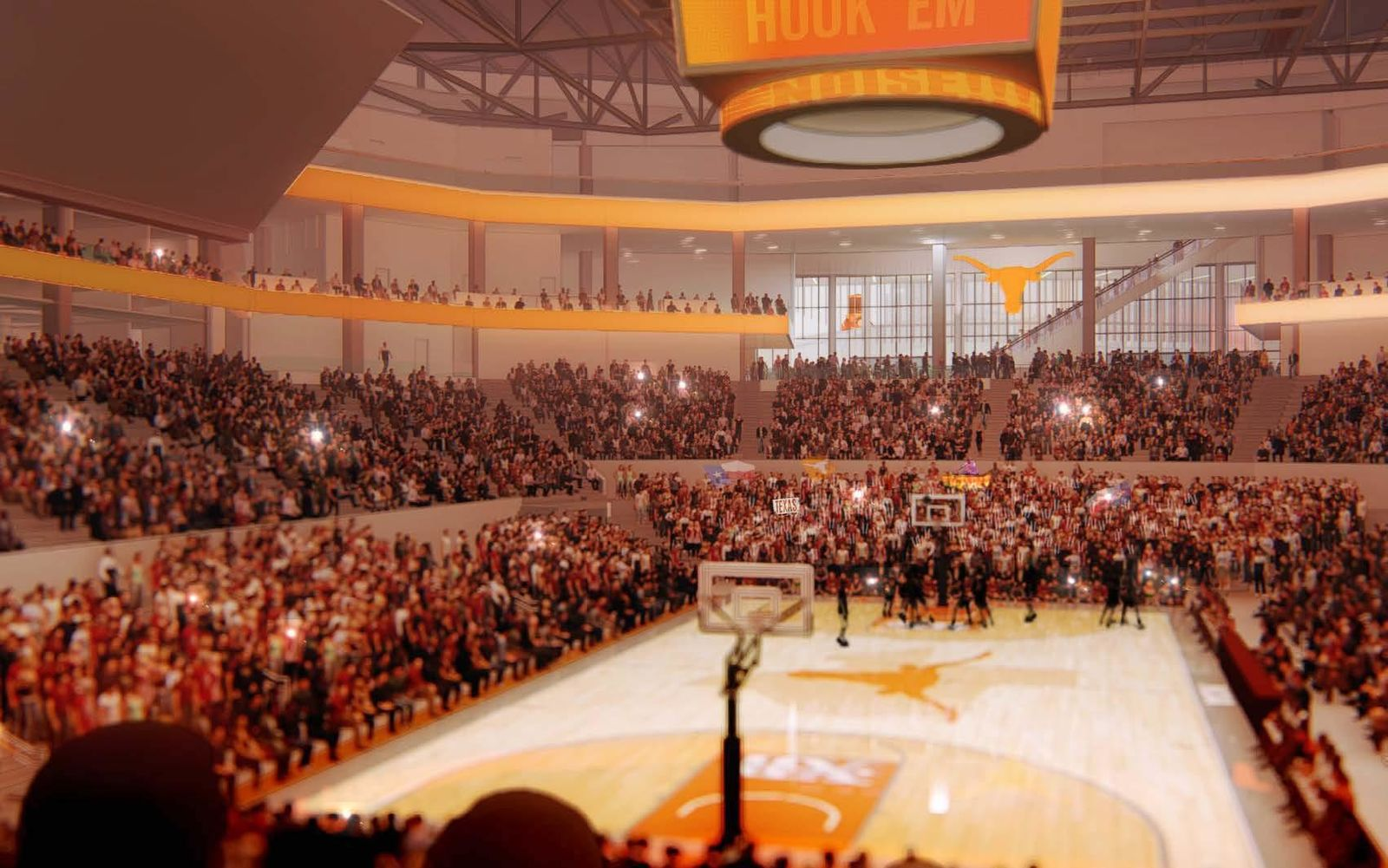 On Tuesday, the University of Texas broke ground on its new basketball arena, the Moody Center. (Renderings courtesy: UT)