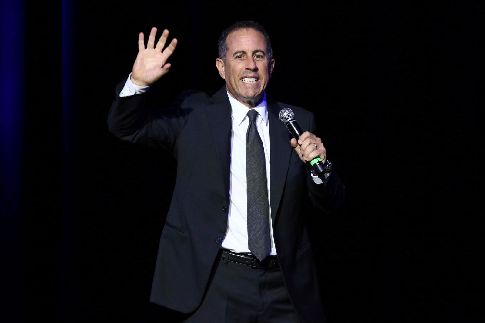 FILE - In this Nov. 1, 2016 file photo, Jerry Seinfeld performs at Stand Up For Heroes, presented by the New York Comedy Festival and the Bob Woodruff Foundation, at The Theater at Madison Square Garden in New York. (Photo by Greg Allen/Invision/AP, File)