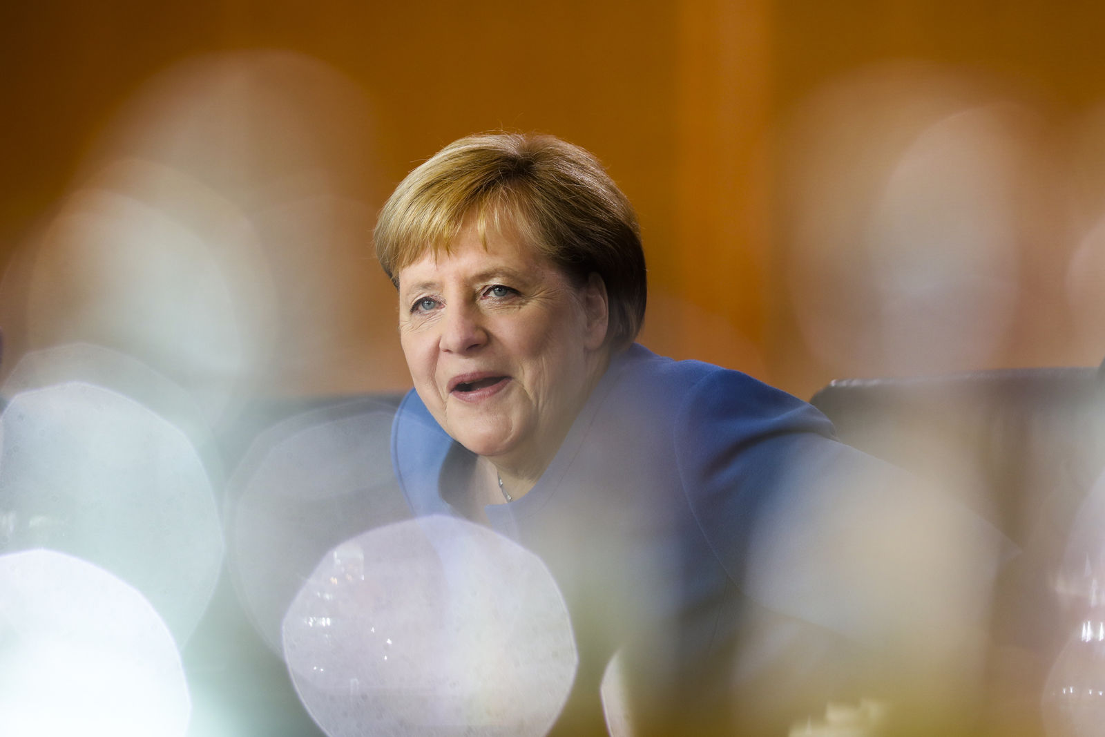 German Chancellor Angela Merkel arrives for a meeting of the called Climate Cabinet at the chancellery in Berlin, Germany, Friday, Sept. 20, 2019. (AP Photo/Markus Schreiber)