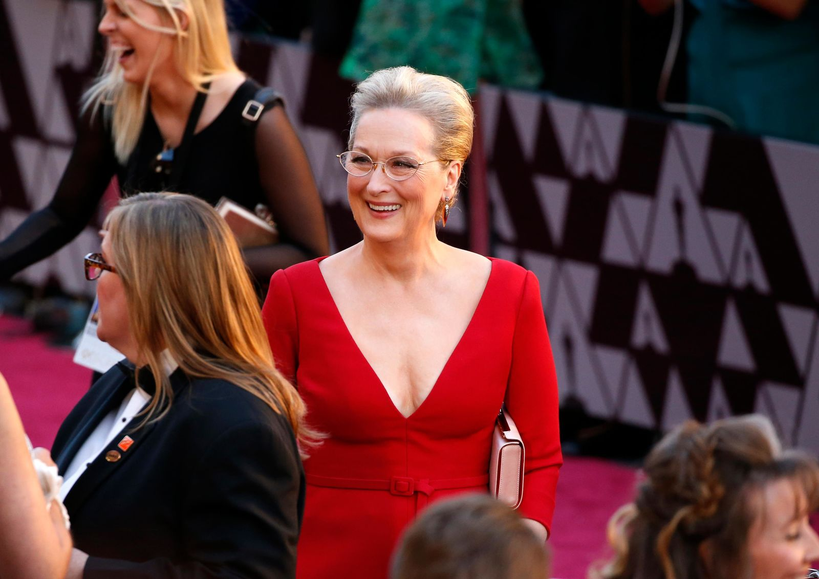Meryl Streep arrives at the Oscars on Sunday, March 4, 2018, at the Dolby Theatre in Los Angeles. (Photo by Eric Jamison/Invision/AP)