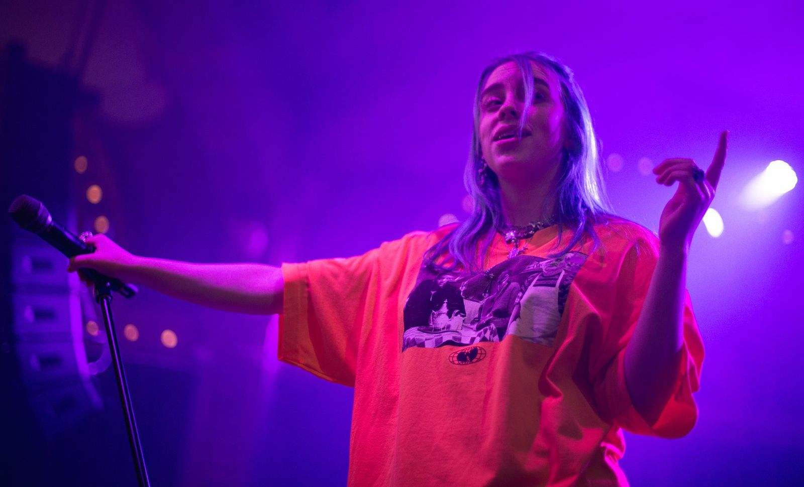 Billie Eilish slayed her sold out show at the rystal Ballroom Monday night as part of 94.7 fm's December to Remember concert series. The 16-year-old multi-platinum singer just wrapped up a nationwide tour and is set to release her first full-length album next year. (Photo by Tristan Fortsch for KATU News on December 10, 2018)
