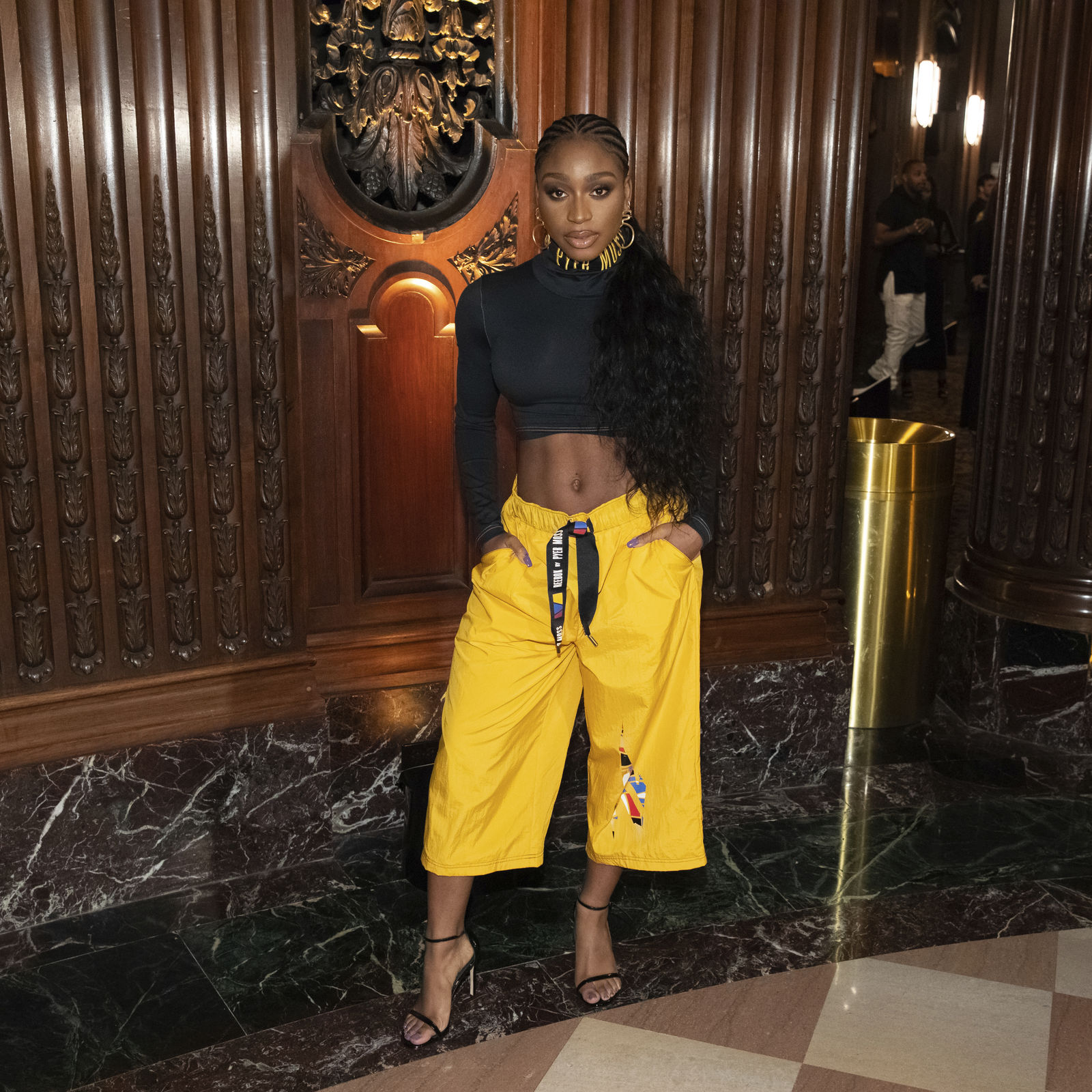 Singer Normani attends the Pyer Moss runway show during NYFW Spring/Summer 2020 on Sunday, Sept. 8, 2019, in Brooklyn, New York. (Photo by Brent N. Clarke/Invision/AP)