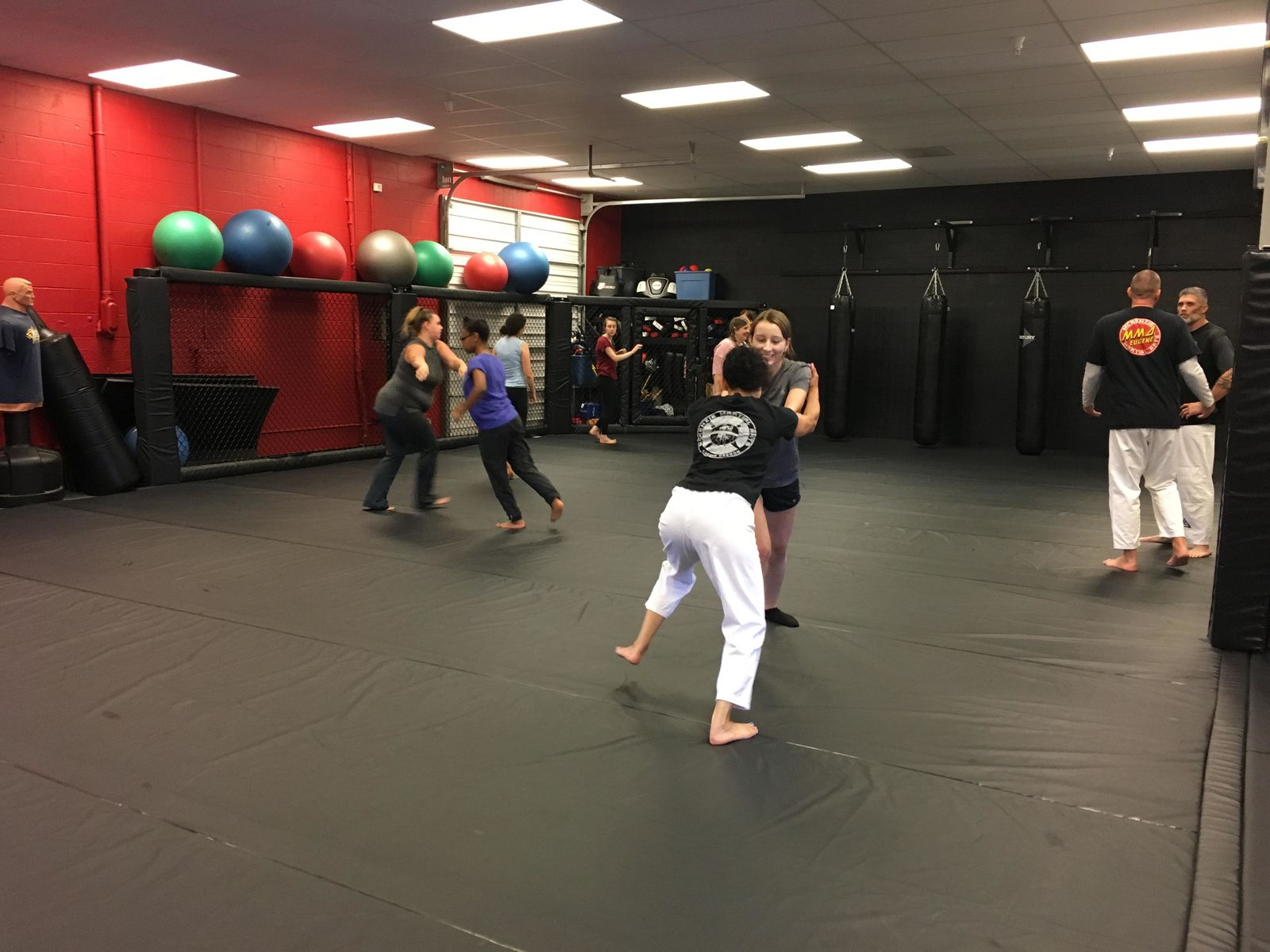 { }A local self defense class is teaching women how to defend against some of the most common attacks.{ }