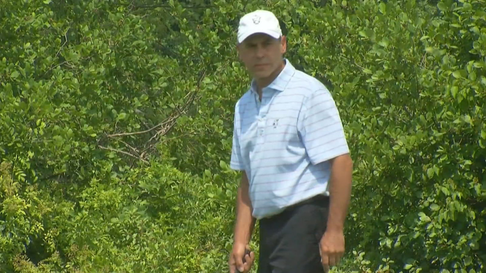 Dr. Christopher Roloff, an emergency room doctor at Sturdy Memorial Hospital in Attleboro, Mass.,{ } playing golf at this week's Rhode Island Amateur Championship. (WJAR)