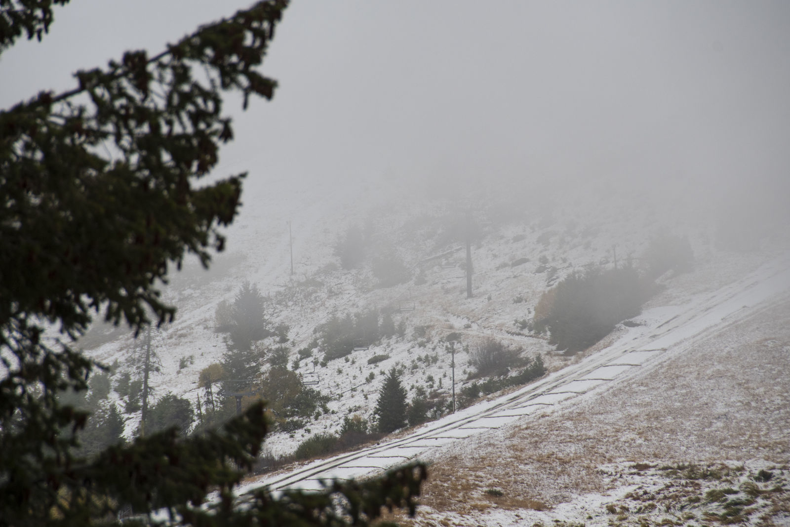 With record rain fall in the Treasure Valley, higher elevation received the seasons first snow. Bogus Basin{ } was covered in a thin layer but the above freezing temperatures means it wont be here for long.{ }