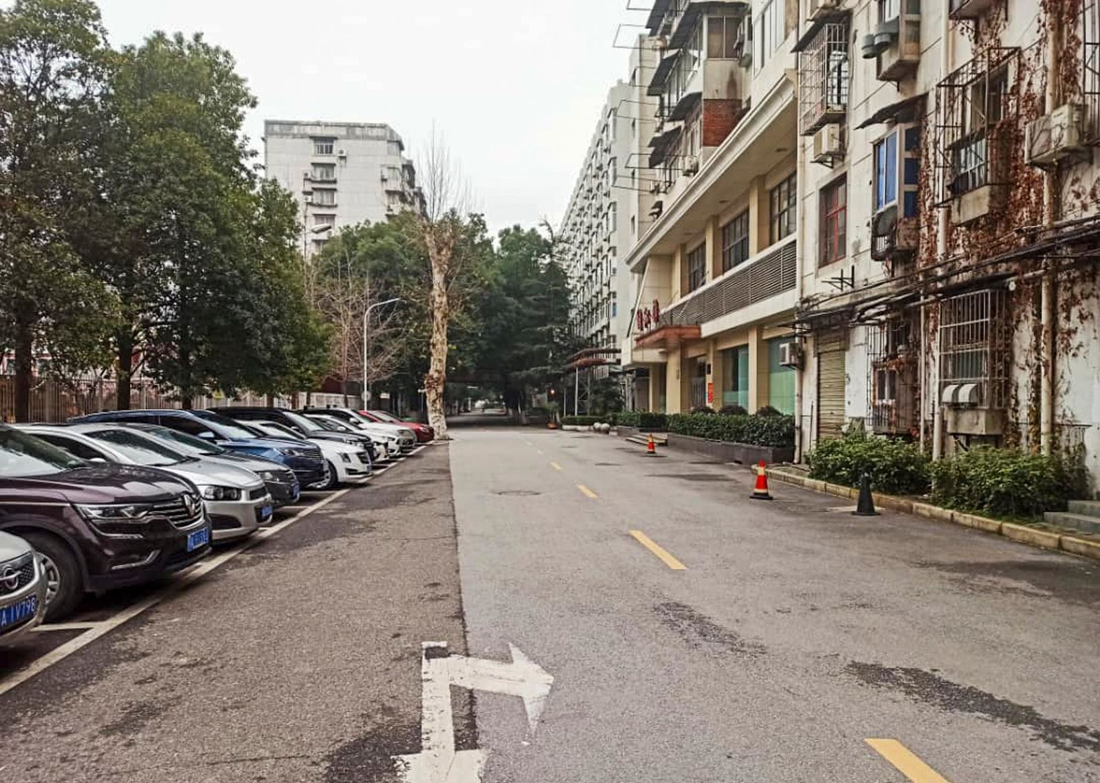 This Jan. 27, 2020, photo provided by Dr. Khamis Hassan Bakari of Tanzania, shows an empty street in Wuhan, China. Bakari is among more than 4,000 African students in the Chinese city of 11 million people, and has been sending updates on social media about the outbreak of a new virus to the more than 400 other Tanzanian students in Wuhan, as China's astonishing lockdown of more than 30 million people continues. (Khamis Hassan Bakari via AP)