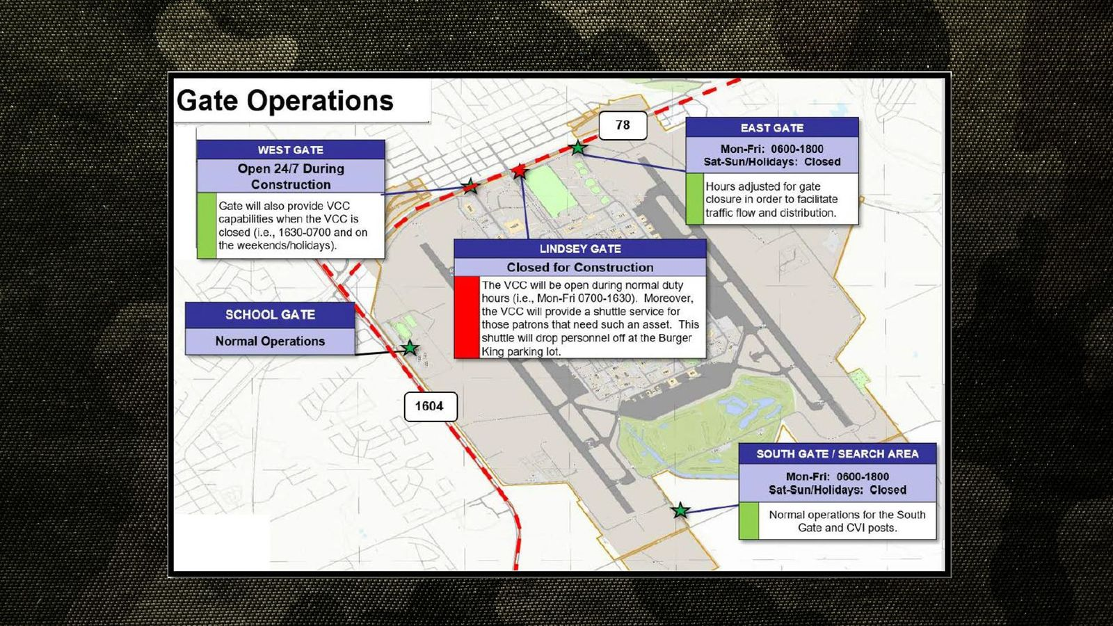 Construction map for JBSA-Randolph (Submitted graphic)