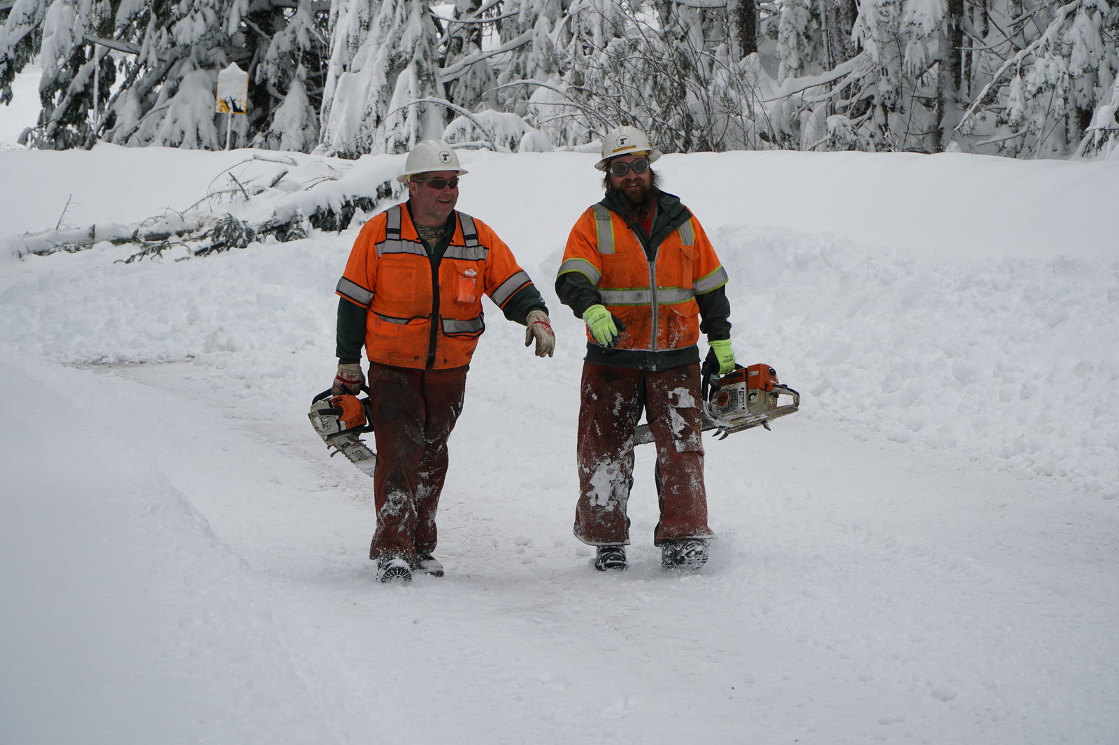 Crews from Glide, Steamboat and Prospect worked to clear OR 62, OR 138 and OR 230 following a snowstorm. (ODOT CC by 2.0)
