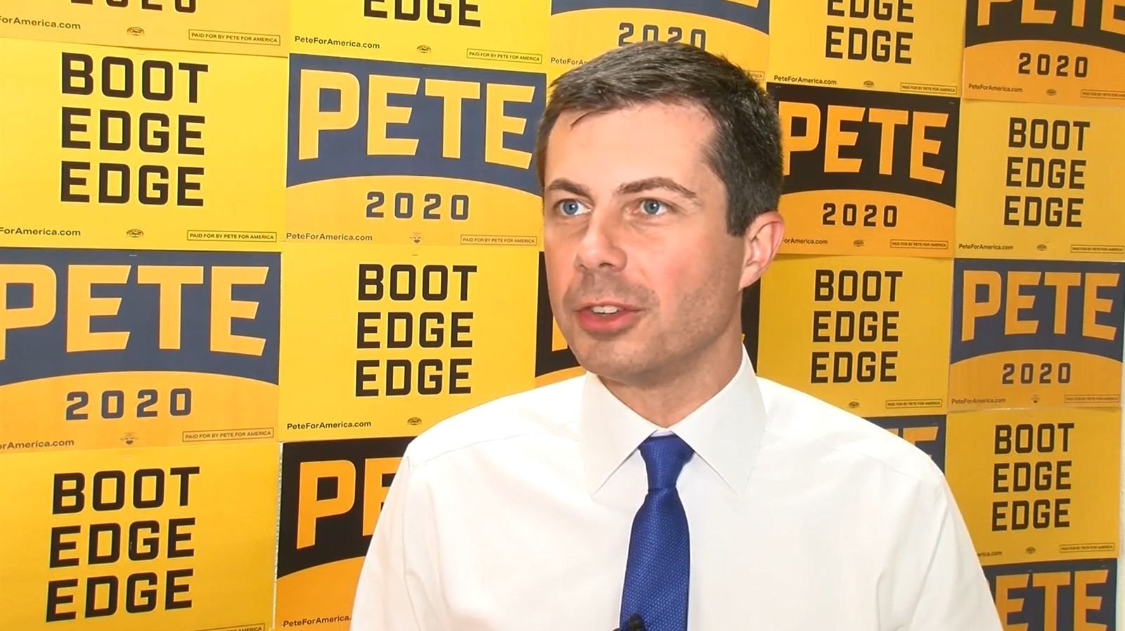 Democratic candidate and South Bend, Ind. Mayor Pete Buttigieg gives an exclusive interview to KSNV during a campaign stop in Nevada. (Image: KSNV)