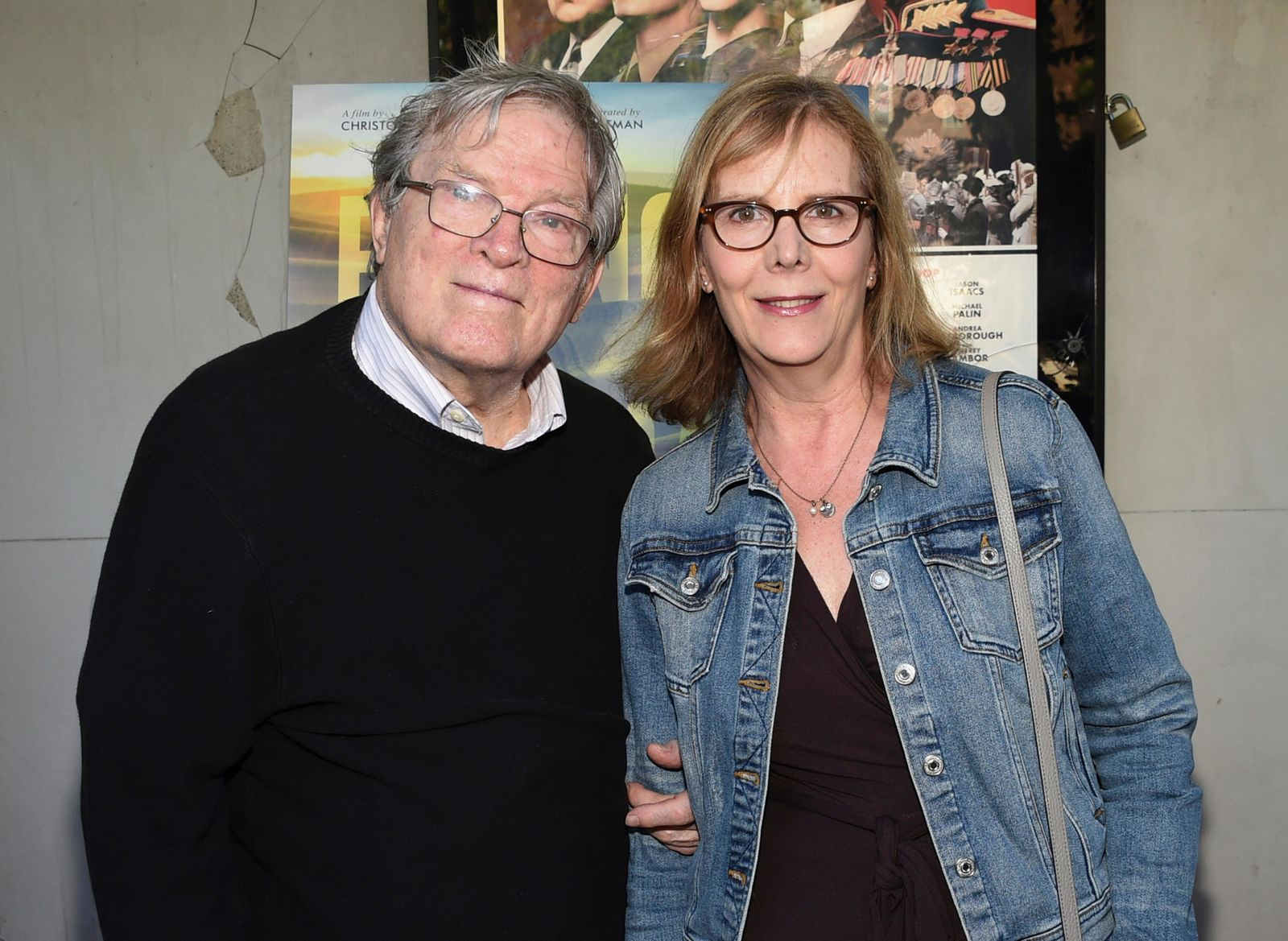 "FILE - In this June 14, 2018 file photo, filmmakers D.A. Pennebaker, left, and Chris Hegedus attend a special screening of ""Eating Animals"" at the IFC Center in New York. (Photo by Evan Agostini/Invision/AP, File)"