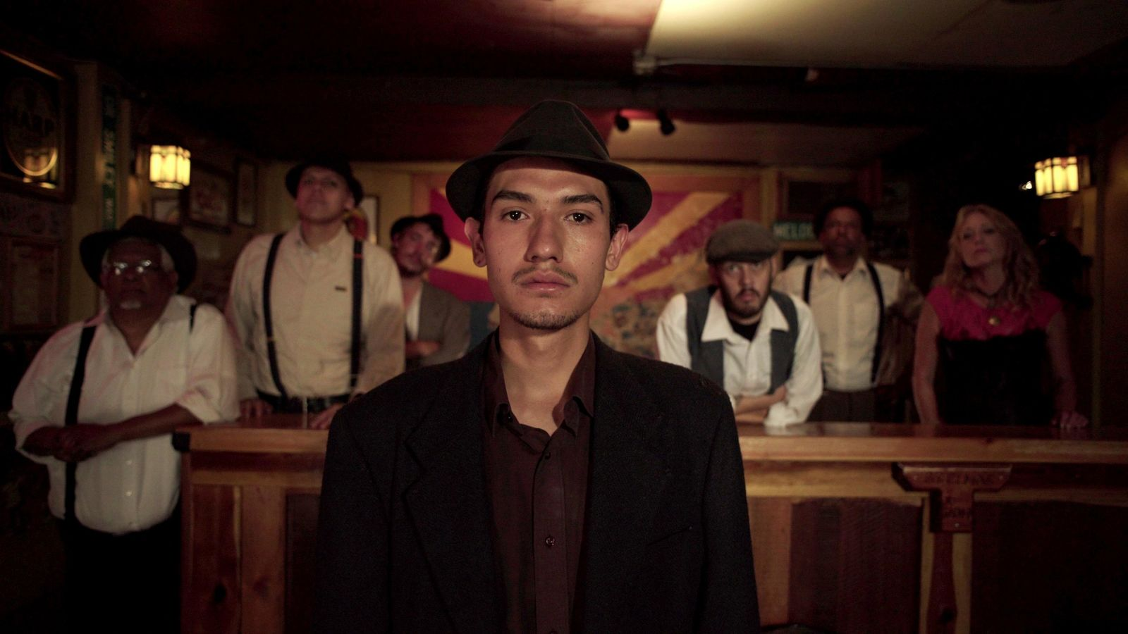 "This undated photo provided by 4th Row Films shows Fernando Serrano, 23, who plays a striking miner in ""Bisbee '17,"" a story of how some 1,200 miners, most of them immigrants, were pulled violently from their homes in Bisbee, Ariz., by a private police force and put on cattle cars for deportation to a desolate area of New Mexico in 1917. (Jarred Alterman/4th Row Films via AP)"