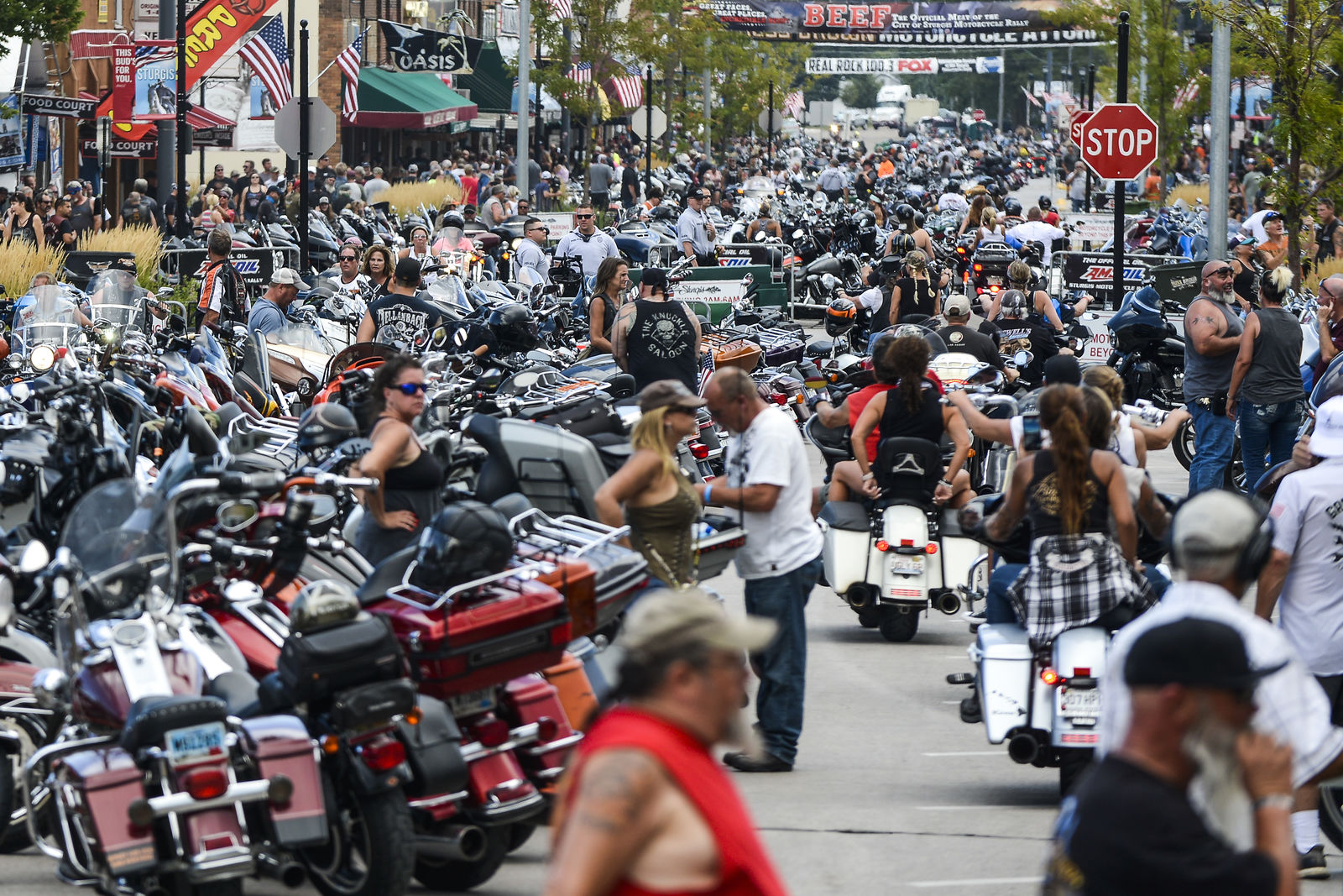 Motorcycle Rally In Sturgis Draws Thousands Of Largely