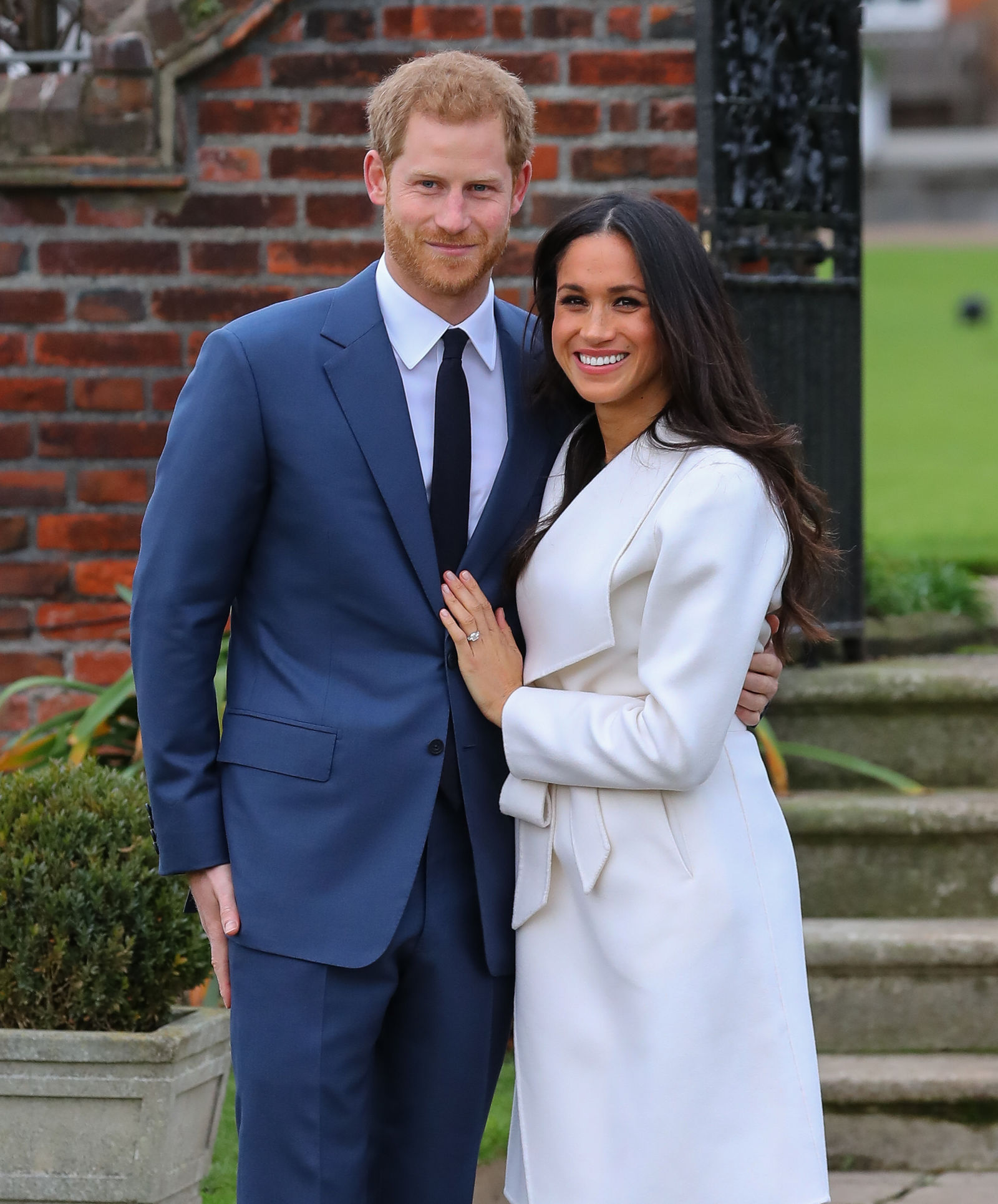 Prince Harry and Meghan Markle attend a photo call at Kensington Palace to mark their engagement                                    Featuring: Prince Harry, Meghan Markle                  Where: London, United Kingdom                  When: 27 Nov 2017                  Credit: John Rainford/WENN.com