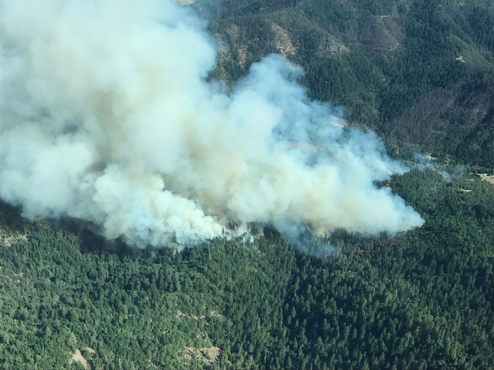 300-acre fire on East Evans Creek Road, evacuations in effect. (Courtesy: ODF Southwest)