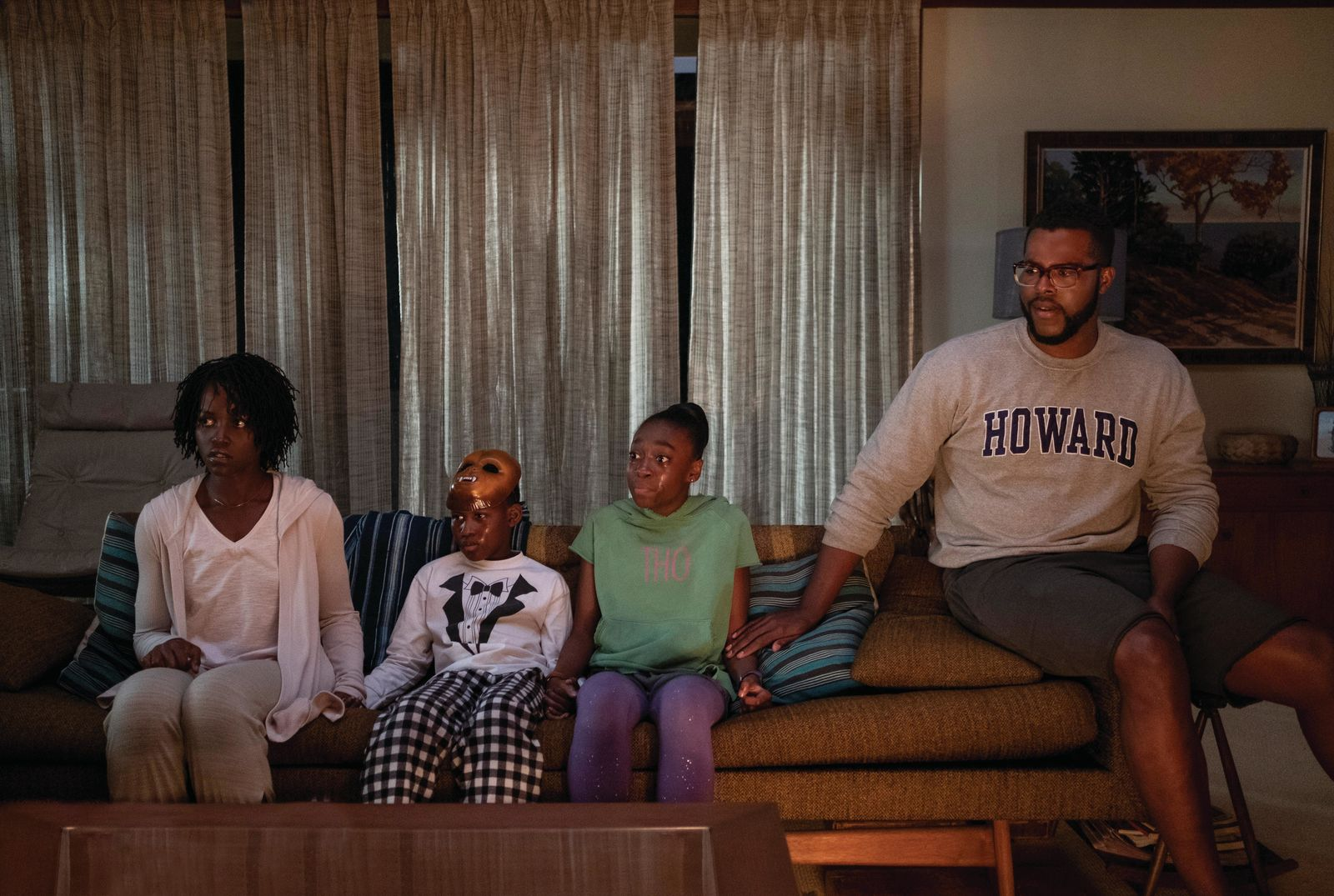 "Adelaide Wilson (Lupita Nyong'o), Jason Wilson (Evan Alex), Zora Wilson (Shahadi Wright Joseph) and Gabe Wilson (Winston Duke) in ""Us,"" written, produced and directed by Jordan Peele.{ }(Photo: Universal Pictures)"
