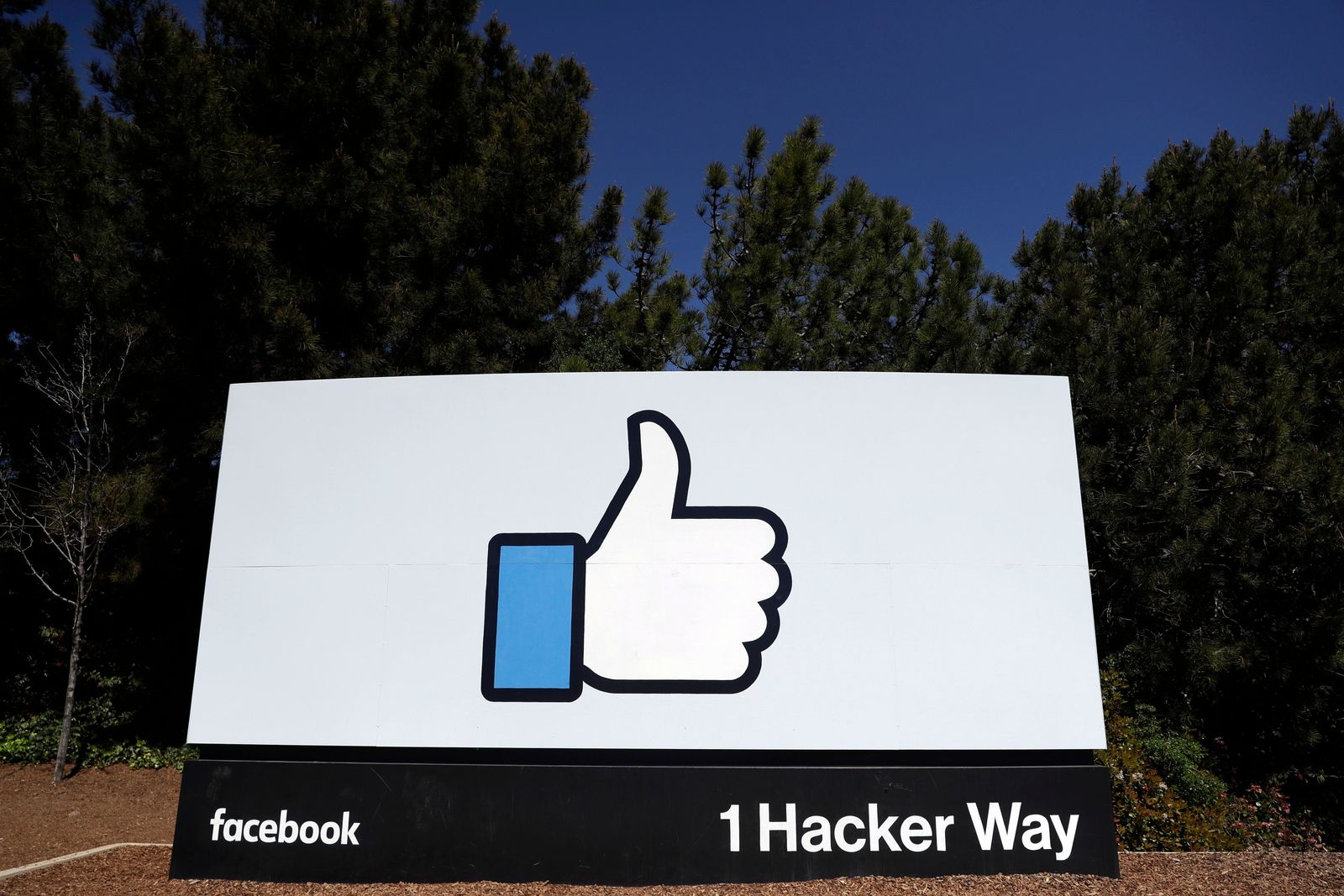 FILE - This March 28, 2018, file photo shows a Facebook logo at the company's headquarters in Menlo Park, Calif.{ } (AP Photo/Marcio Jose Sanchez, File)
