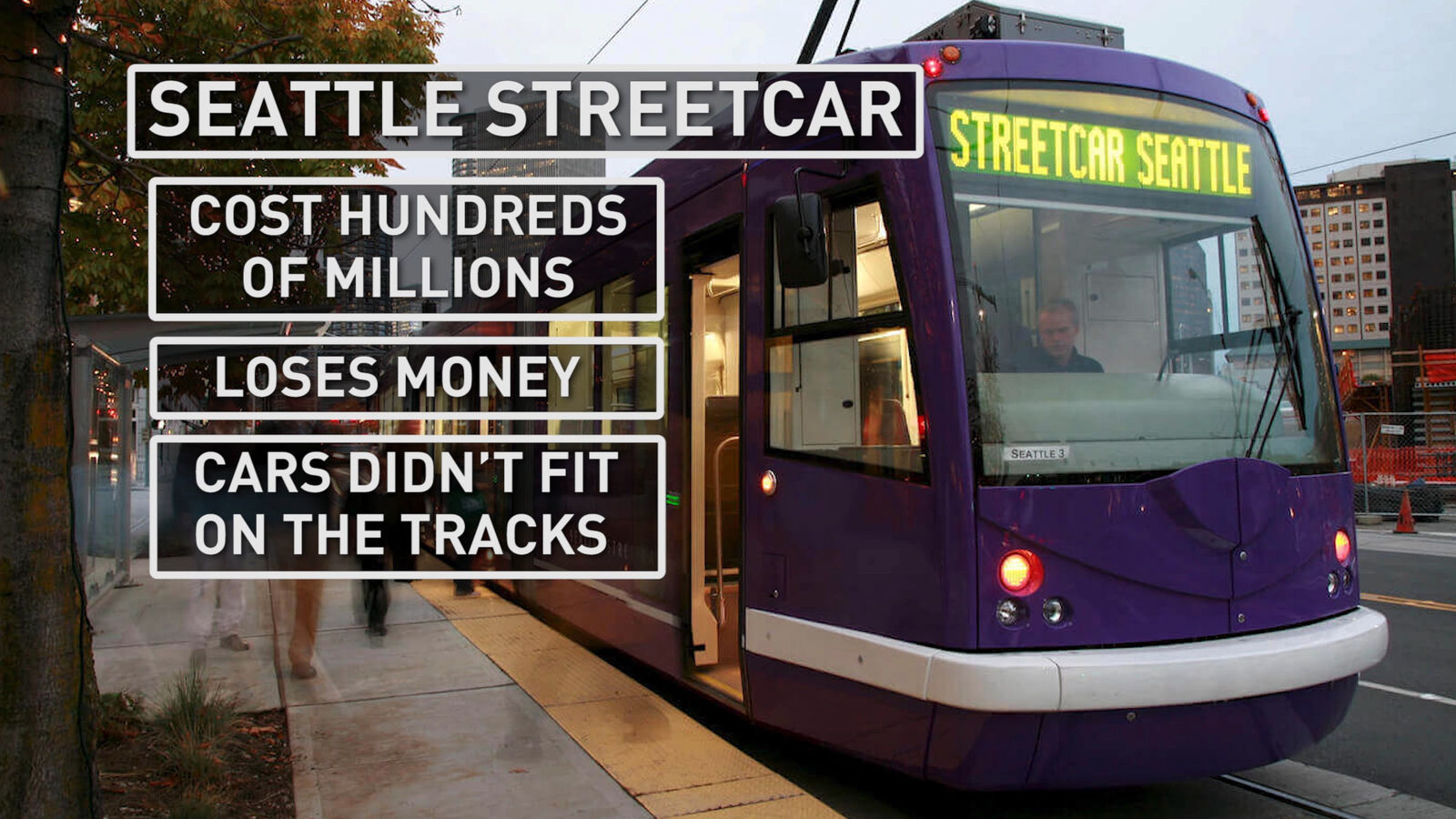 Seattle's streetcar has made headlines for its complications and cost (Photo: Alex Brauer, Sinclair Broadcast Group)
